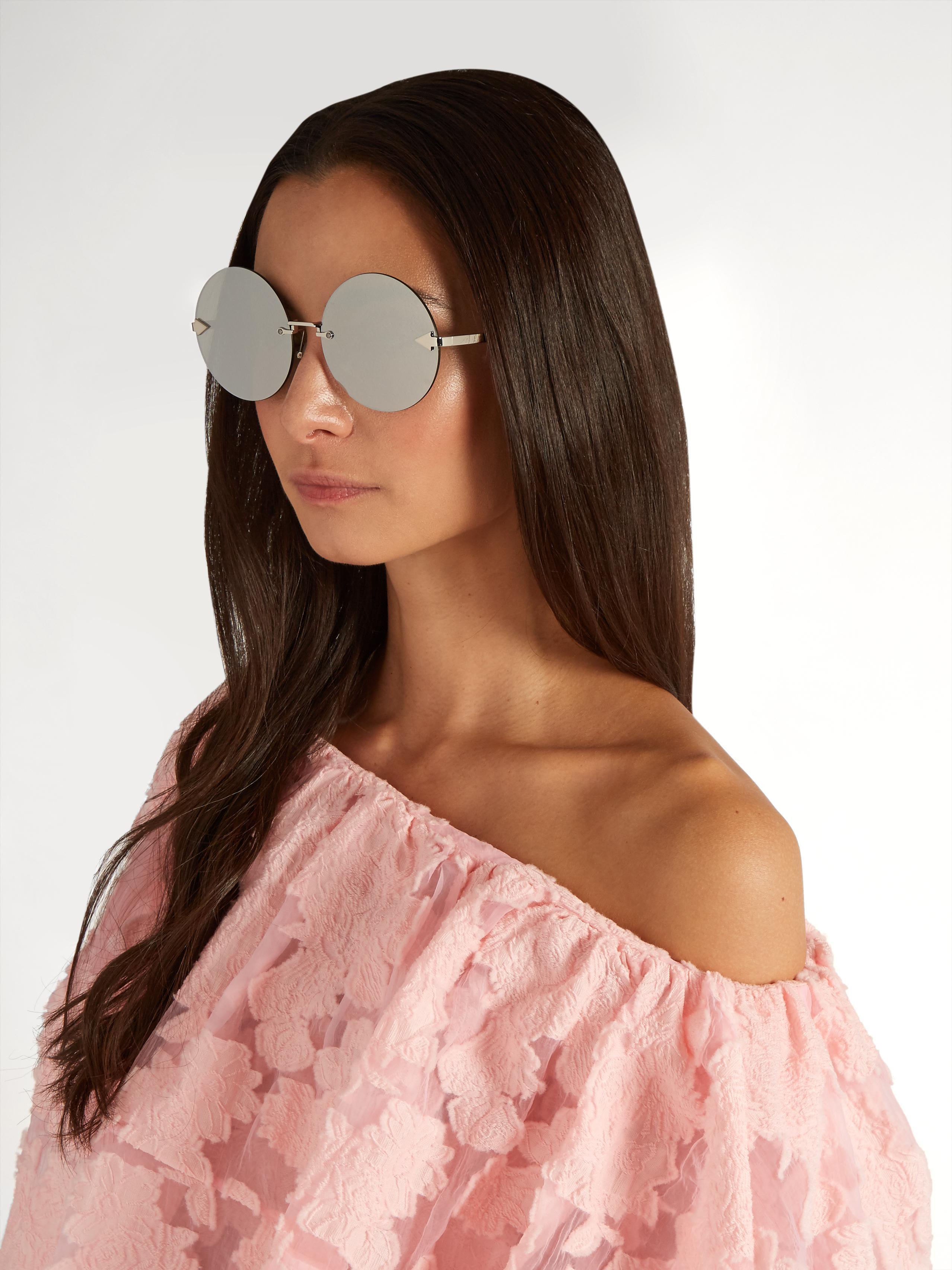 e15b0578551 Lyst - Karen Walker Disco Circus Round-frame Sunglasses