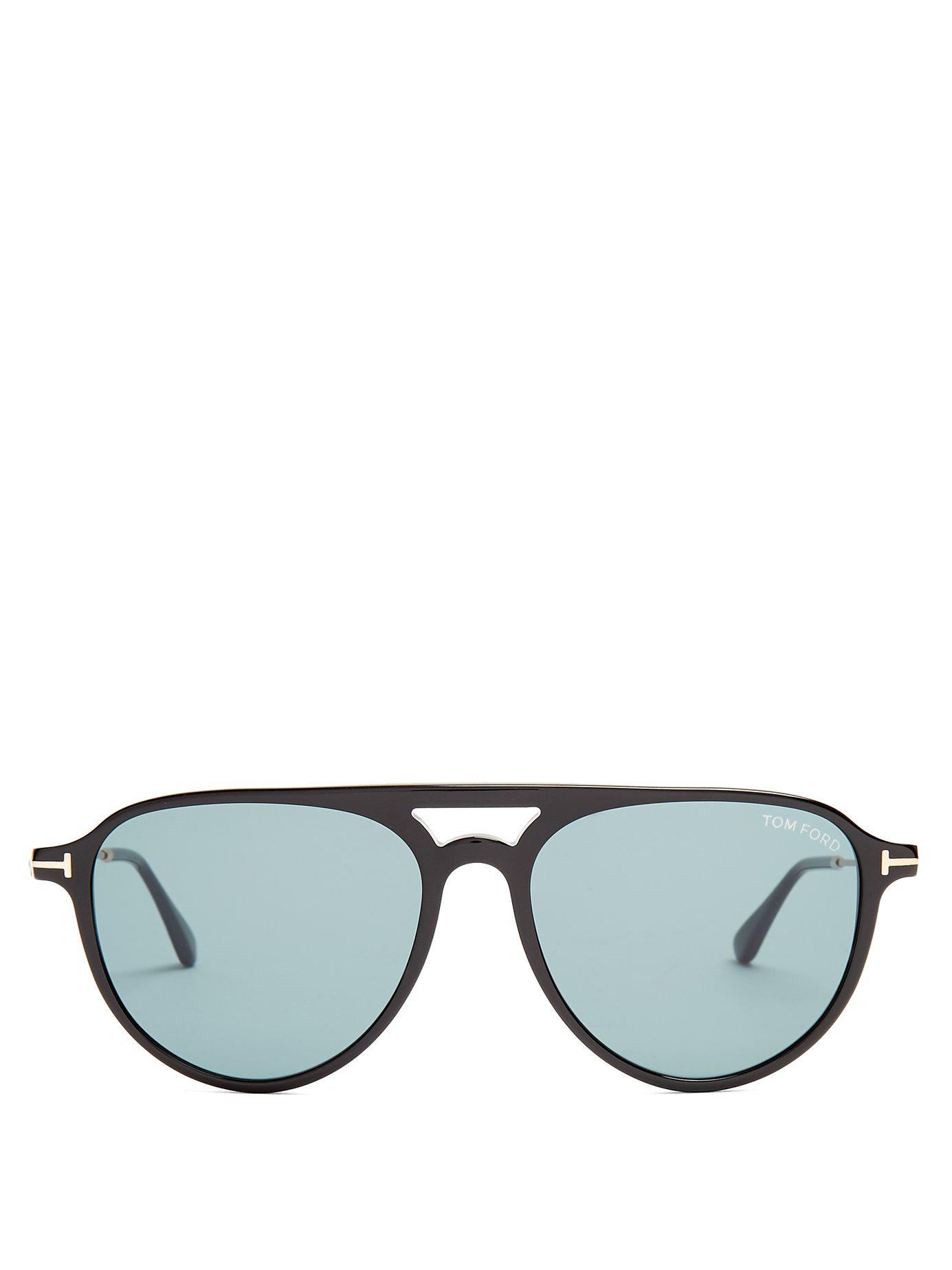 10c39d5c8f8 Tom Ford - Black Carlo Aviator Acetate Sunglasses for Men - Lyst. View  fullscreen