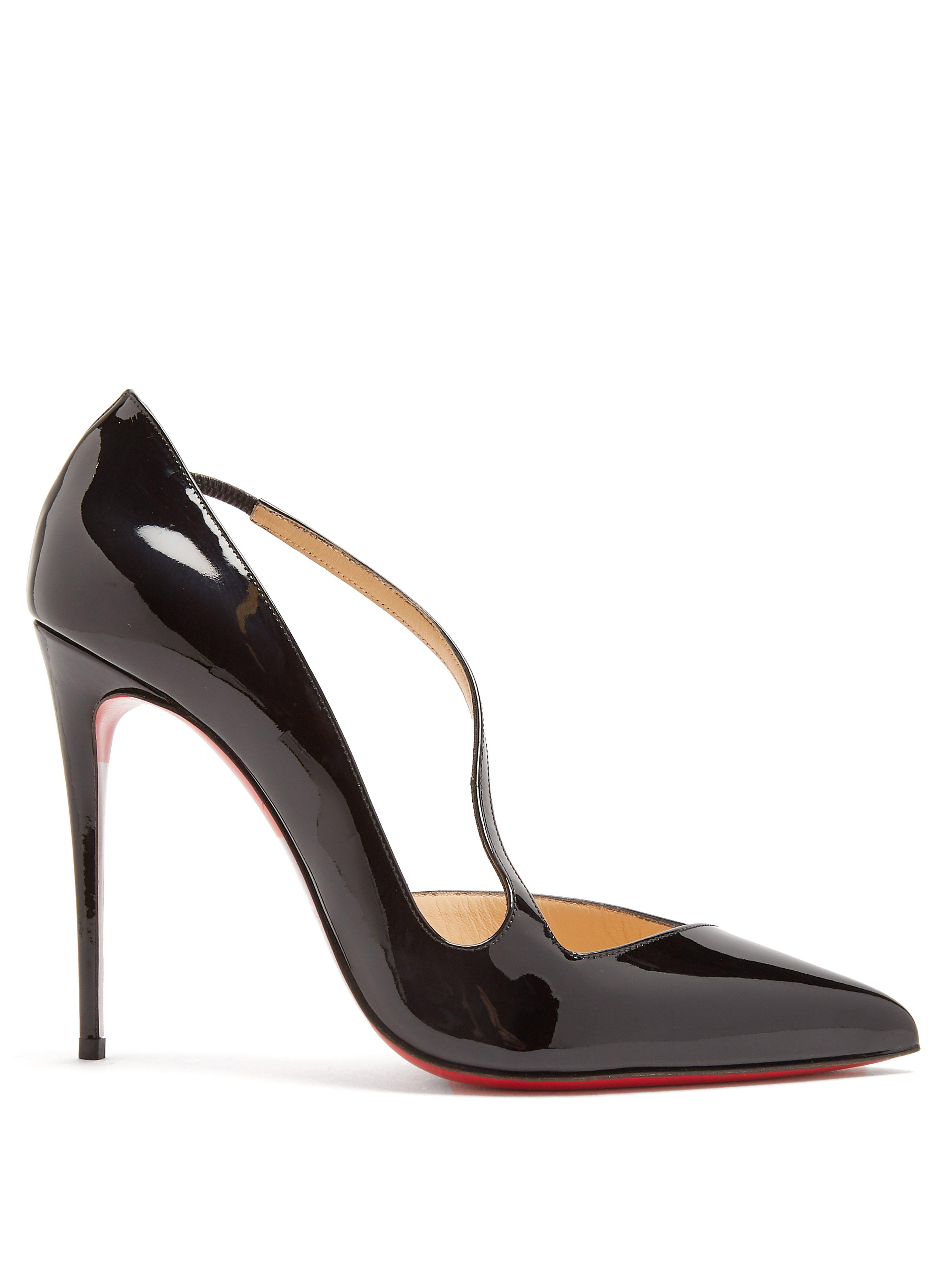 2f2df6cef2f Christian Louboutin Jumping 85 Patent Leather Pumps in Black - Save ...