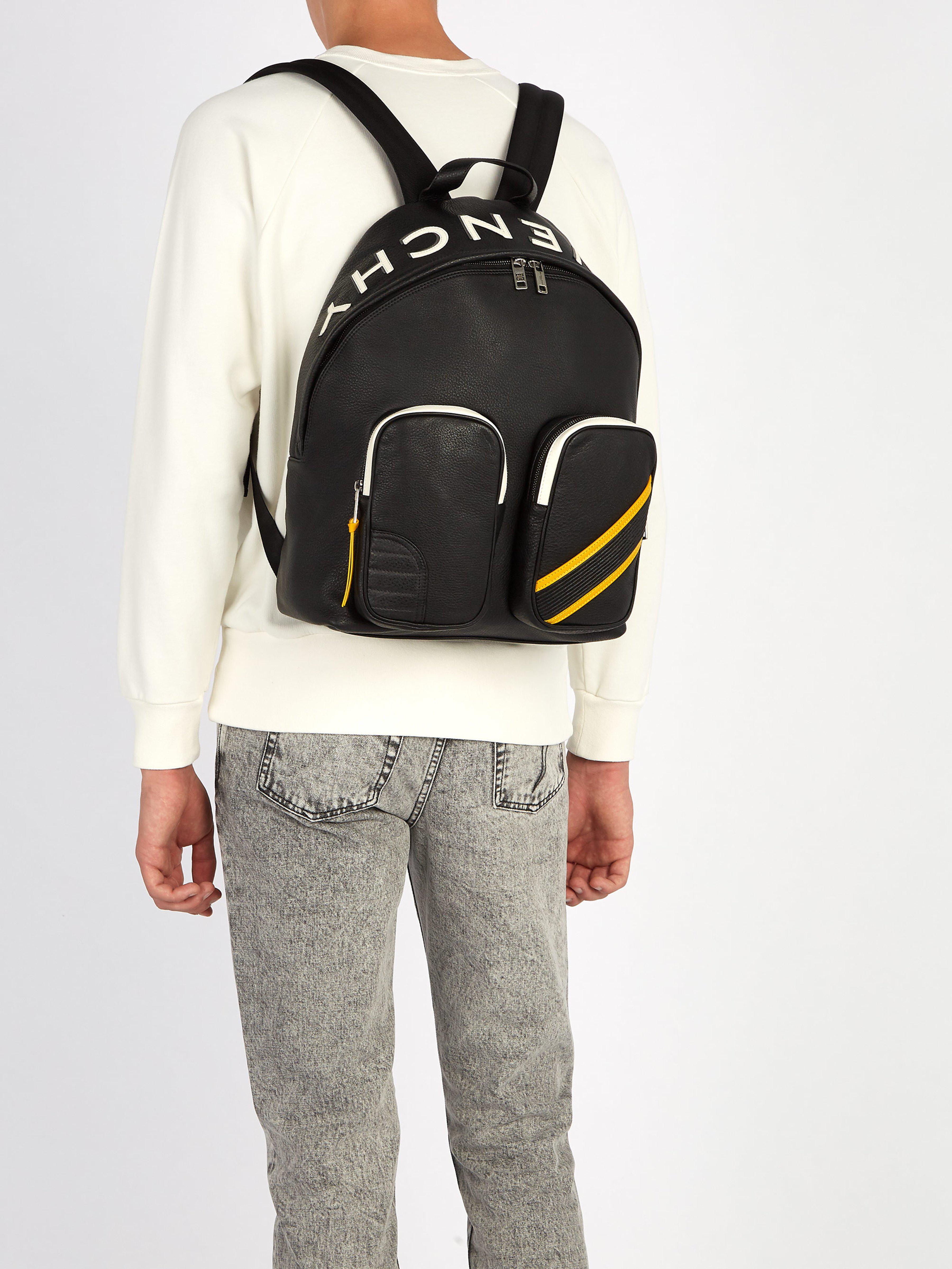 5ef5250a54 Mc3 Sac Givenchy Homme Coloris Lyst En Dos À Noir Cuir Pour PRnWdwXq