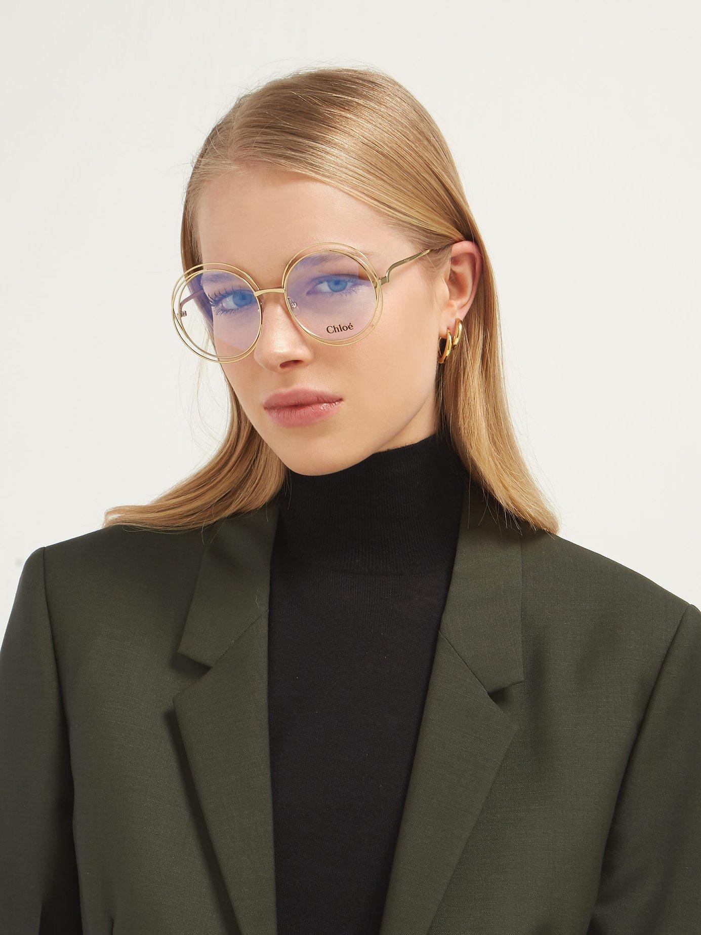9073f955 Women's Metallic Carlina Round Frame Glasses