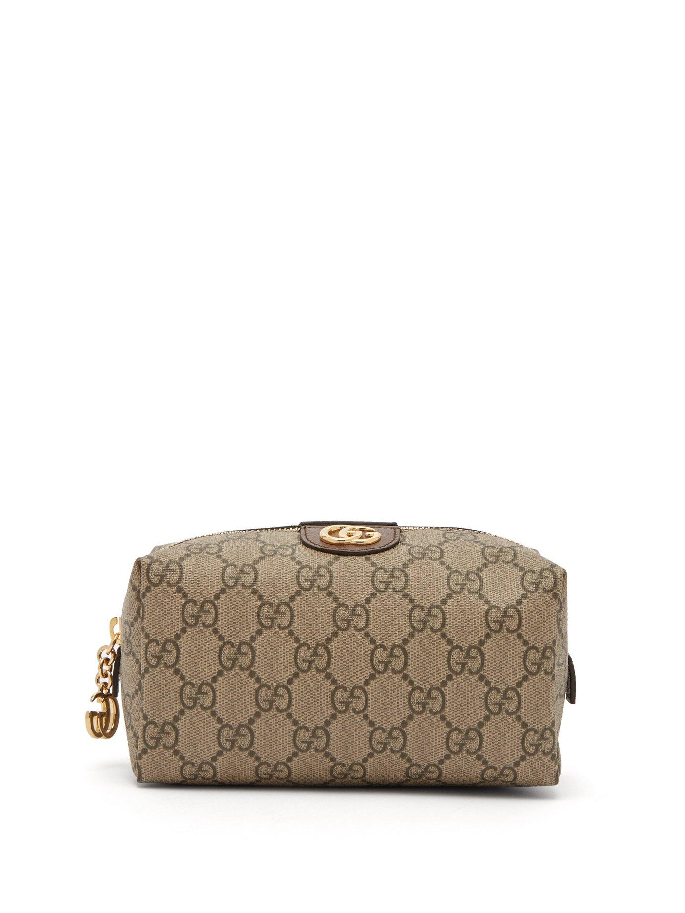 6e0bc7ce2e7 Lyst - Gucci Ophidia Gg Supreme Canvas Make Up Bag in Brown