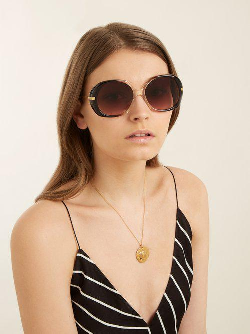 Celine Butterfly-frame Sunglasses in Brown