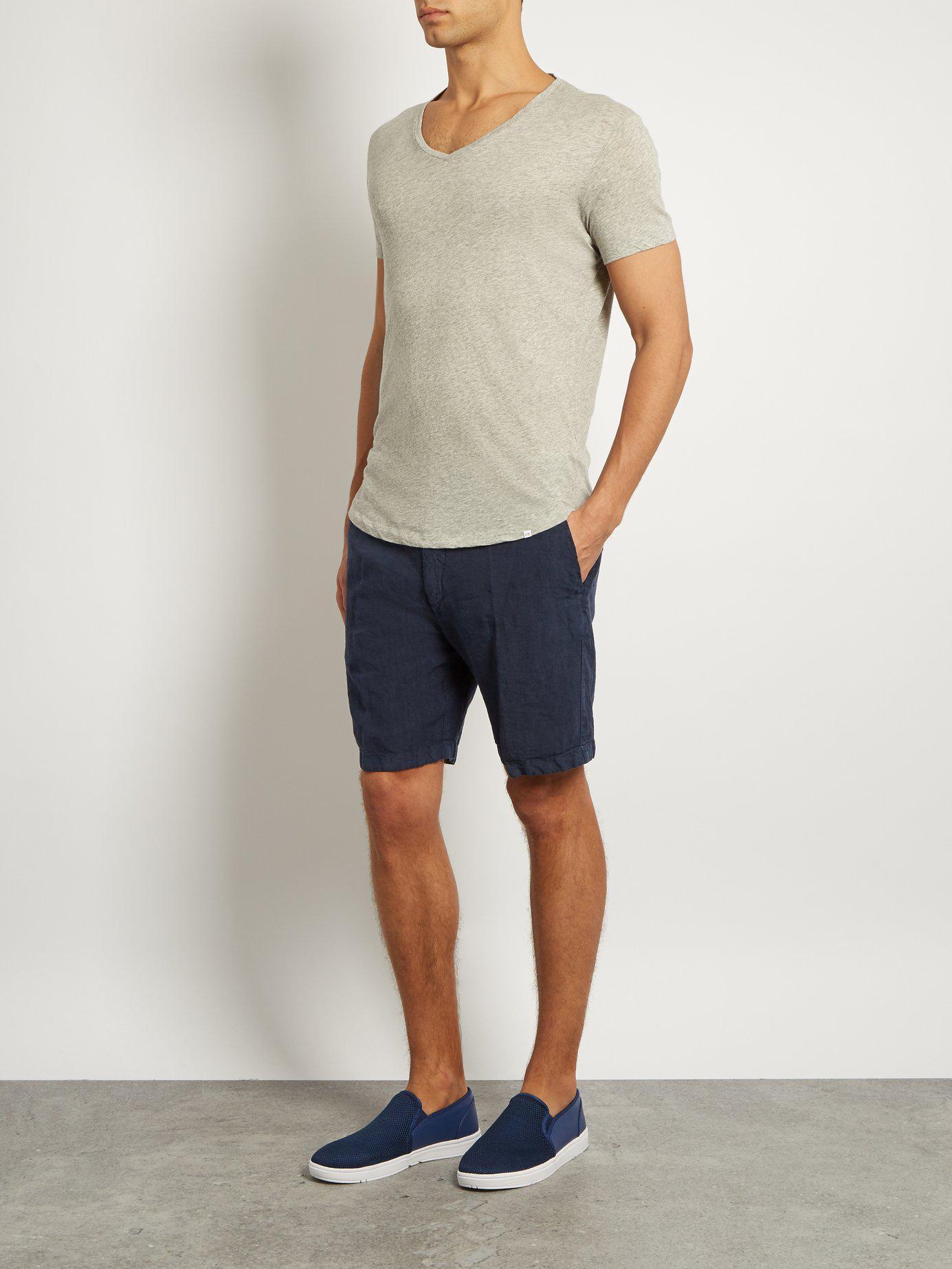 542d715f3b4 Lyst - Orlebar Brown OB V-Neck Cotton T-Shirt in Gray for Men