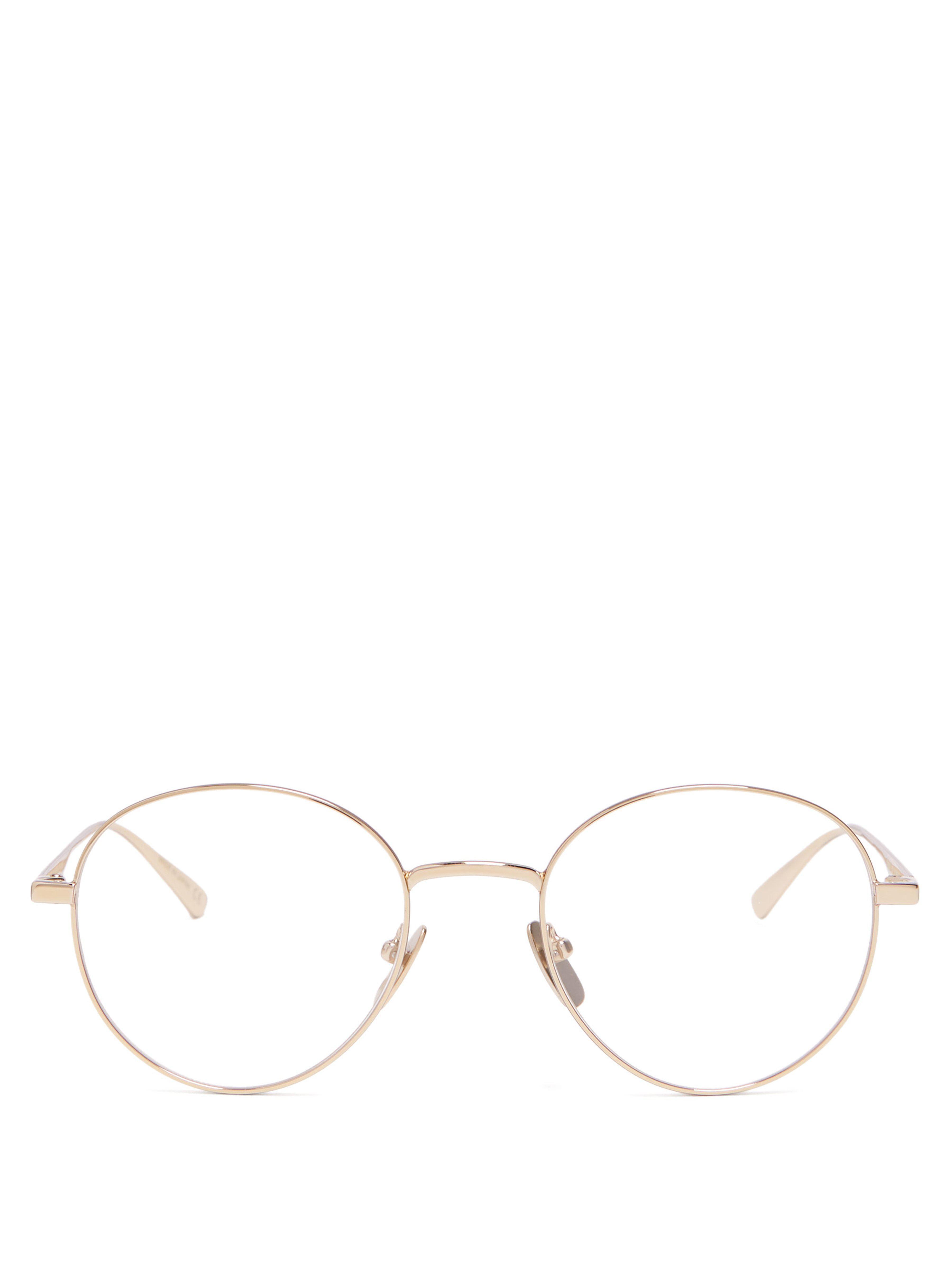 1c981416aea Gucci Round Metal Glasses in Metallic for Men - Lyst