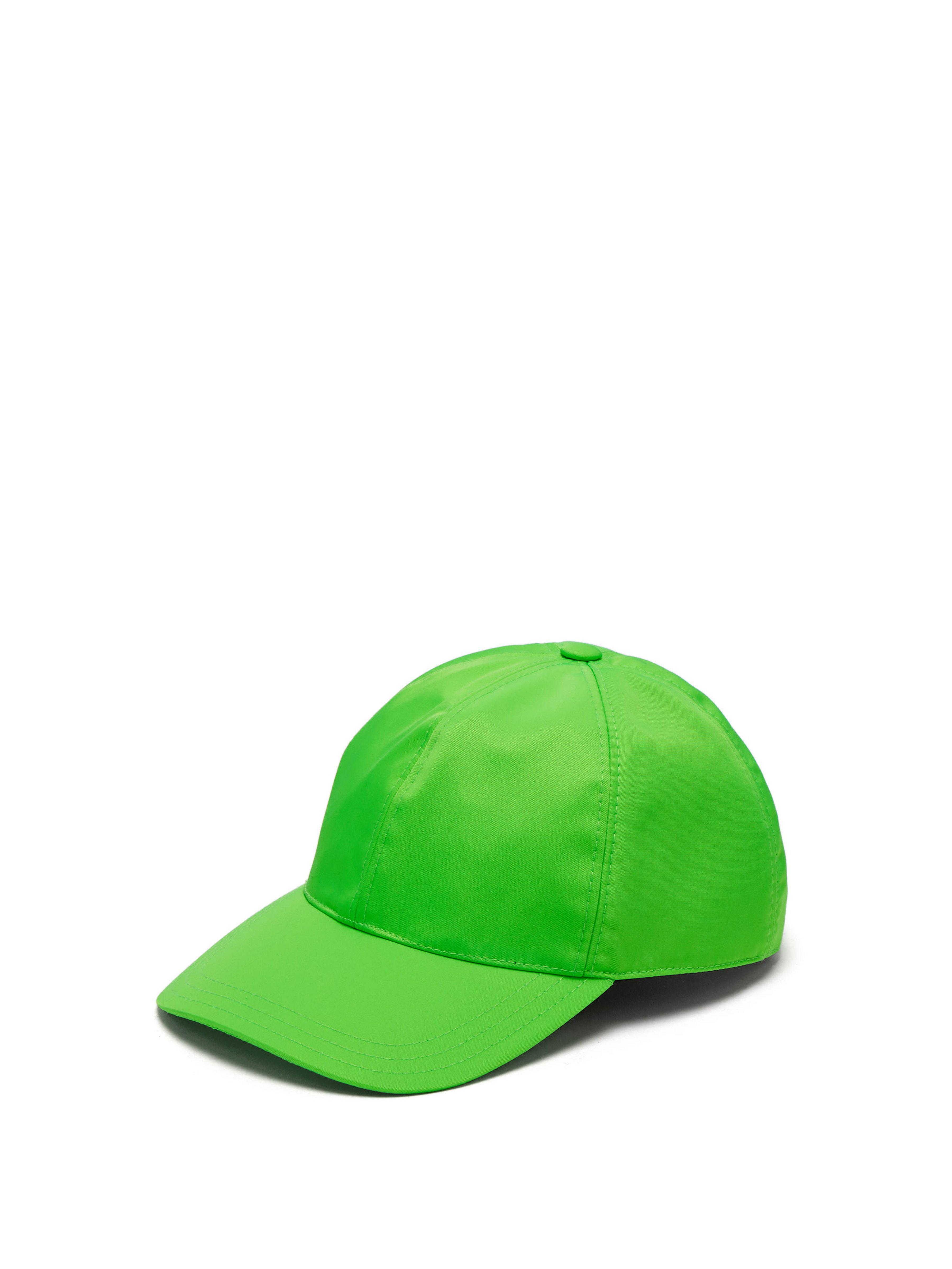 27199b7311e Prada Logo Plaque Baseball Cap in Green for Men - Lyst