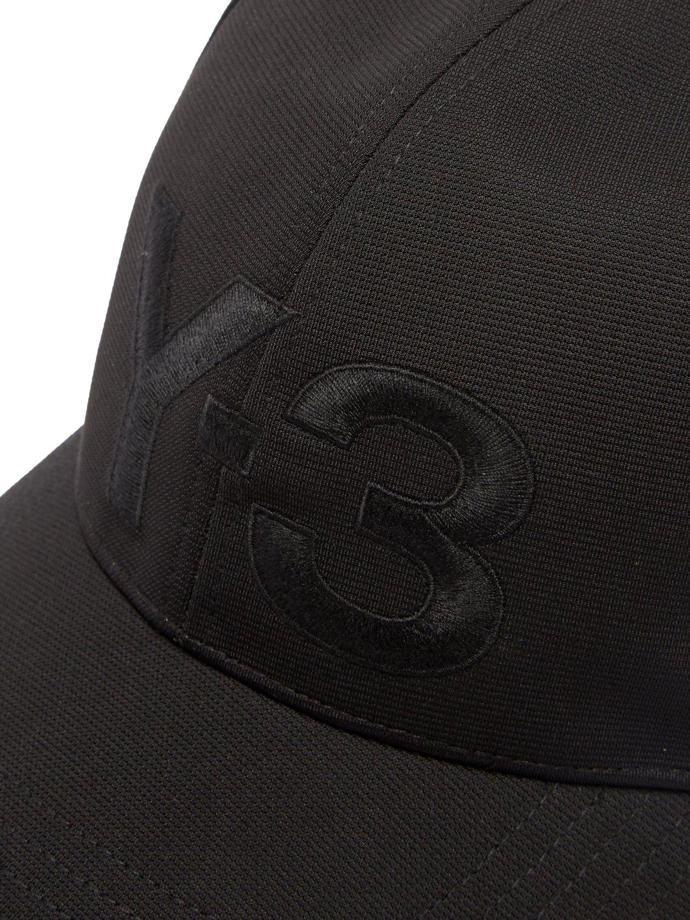 ec93079ec Lyst - Y-3 Logo Embroidered Cap in Black for Men