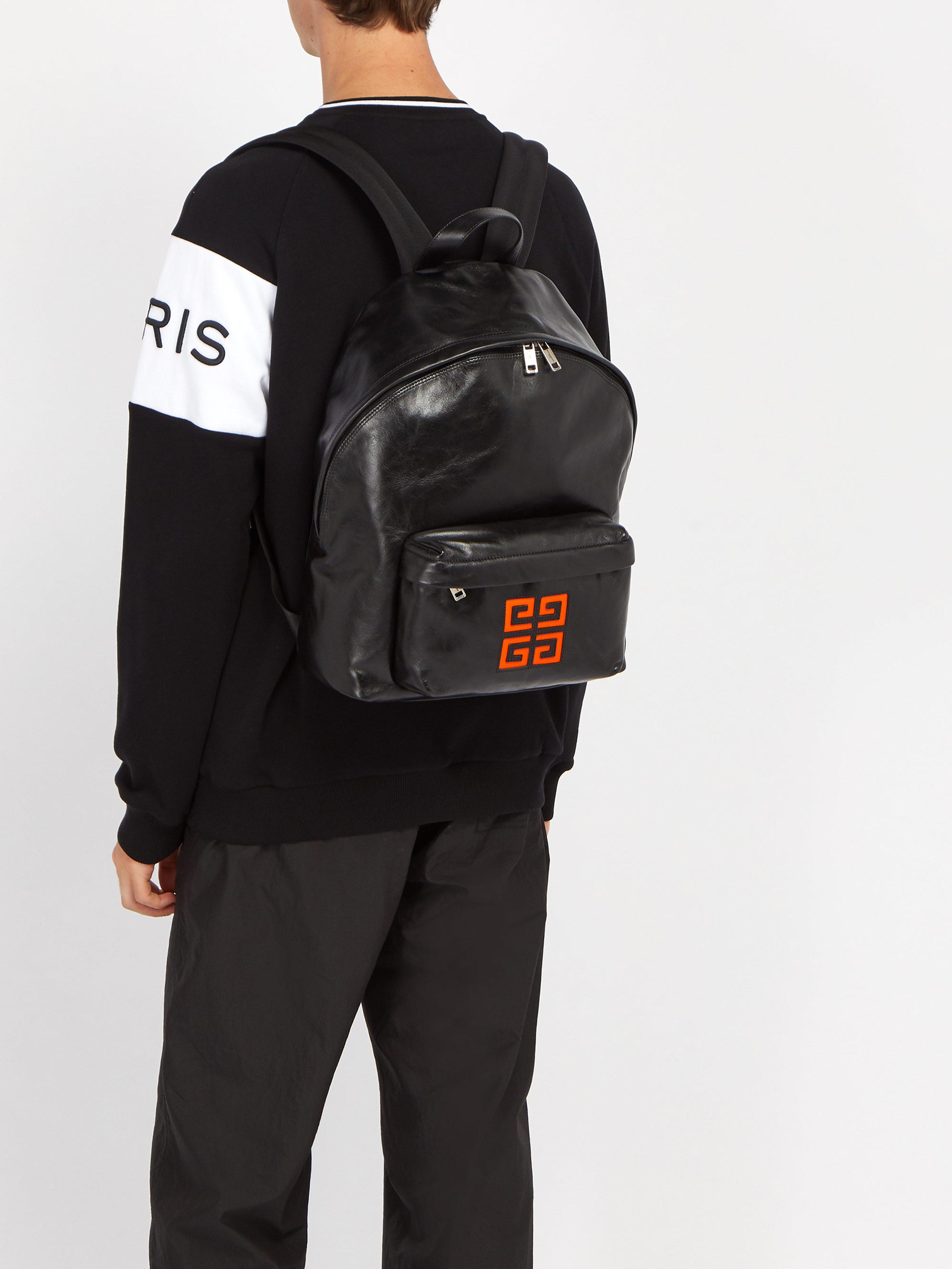 Givenchy 4g À Noir Pour Logo Dos Sac En Coloris Cuir Lyst Homme S5qY10x5