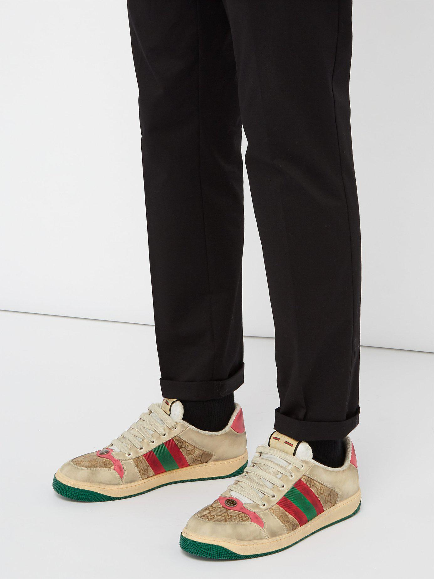 0dc0abf4e89 Gucci - Multicolor Screener Gg Supreme Leather Trainers for Men - Lyst.  View fullscreen