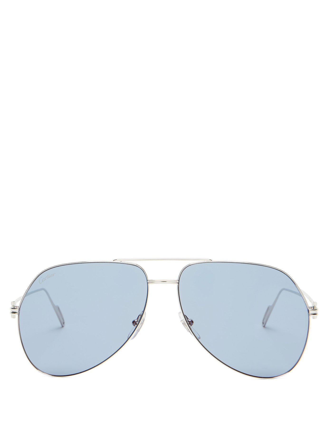 8f2e04762e2 Cartier. Women s Metallic Première De Cartier Silver Tone Metal Sunglasses