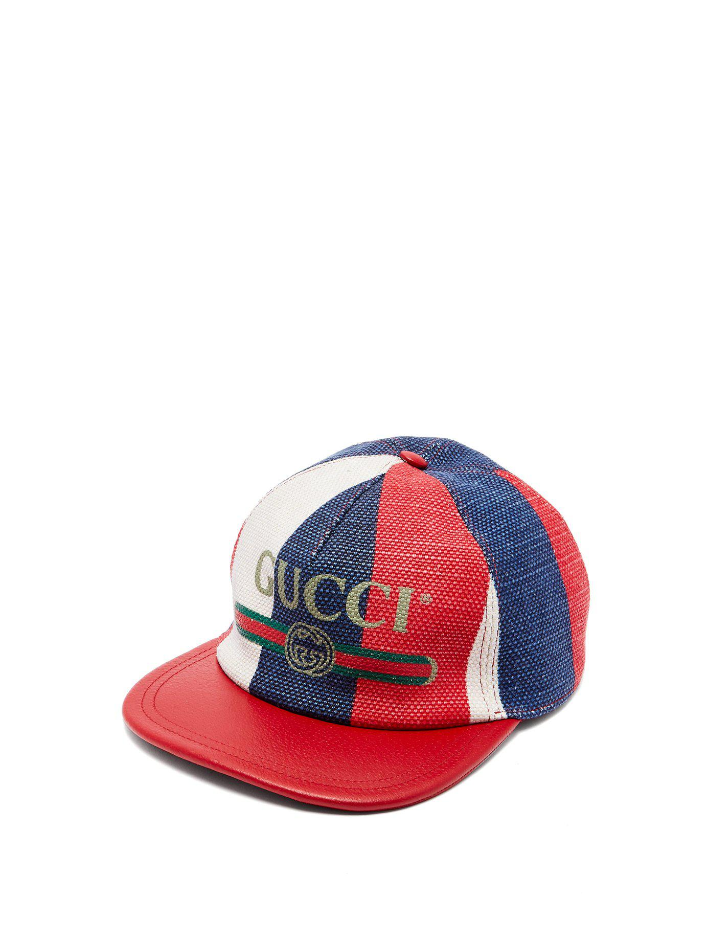 39e251b4134 Lyst - Gucci Logo Embellished Linen Baseball Cap for Men - Save 39%