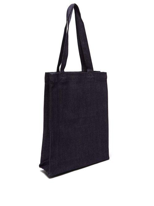 A.P.C. Laure Denim Tote Bag in Indigo (Blue)