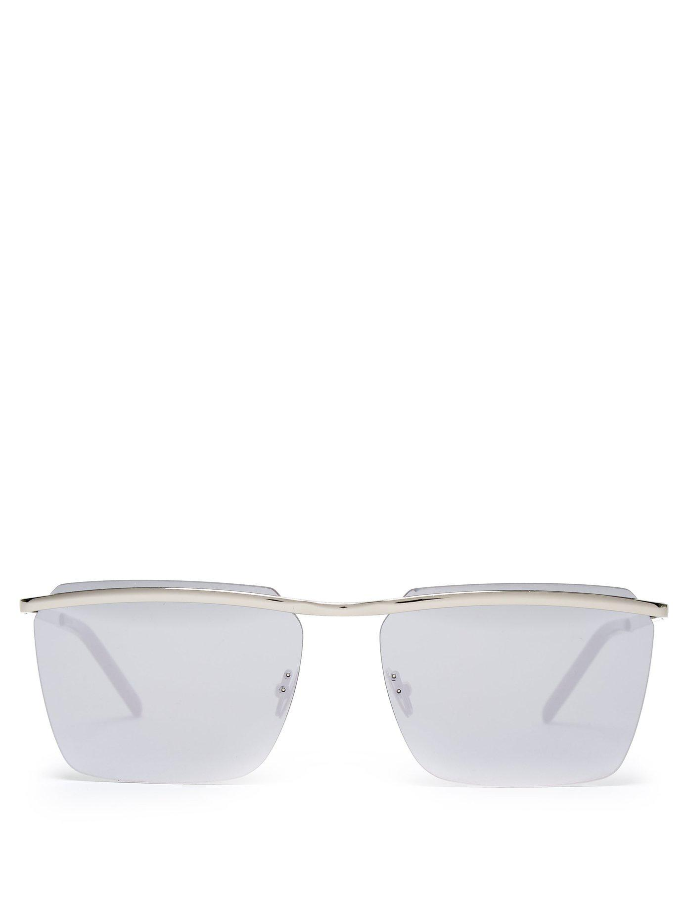 9c88d462d155 Lyst - Saint Laurent D Frame Metal Sunglasses in Metallic for Men