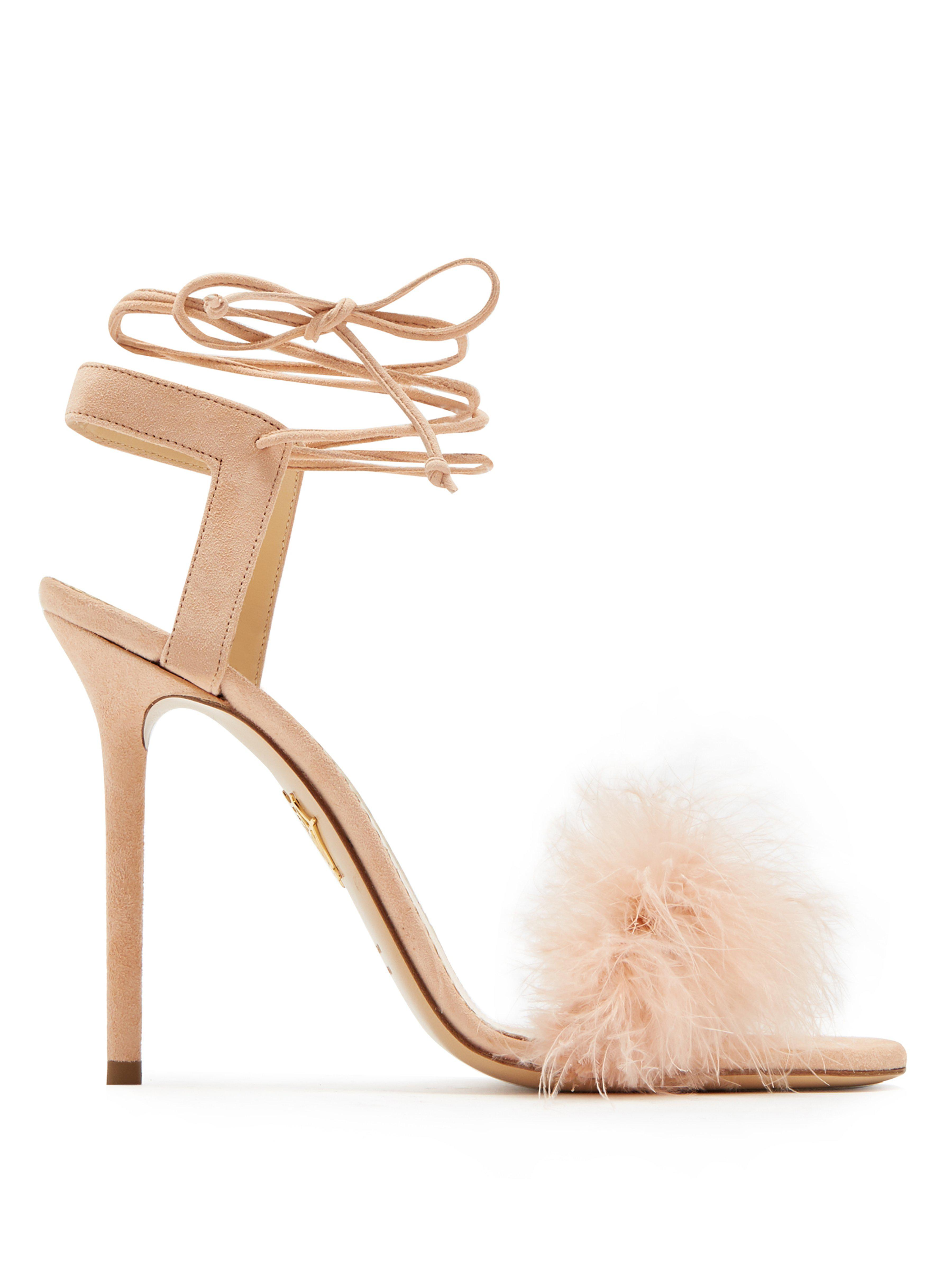 sale retailer 321a6 ae4ca charlotte-olympia-nude-Salsa-Feather-Embellished-Suede-Sandals.jpeg