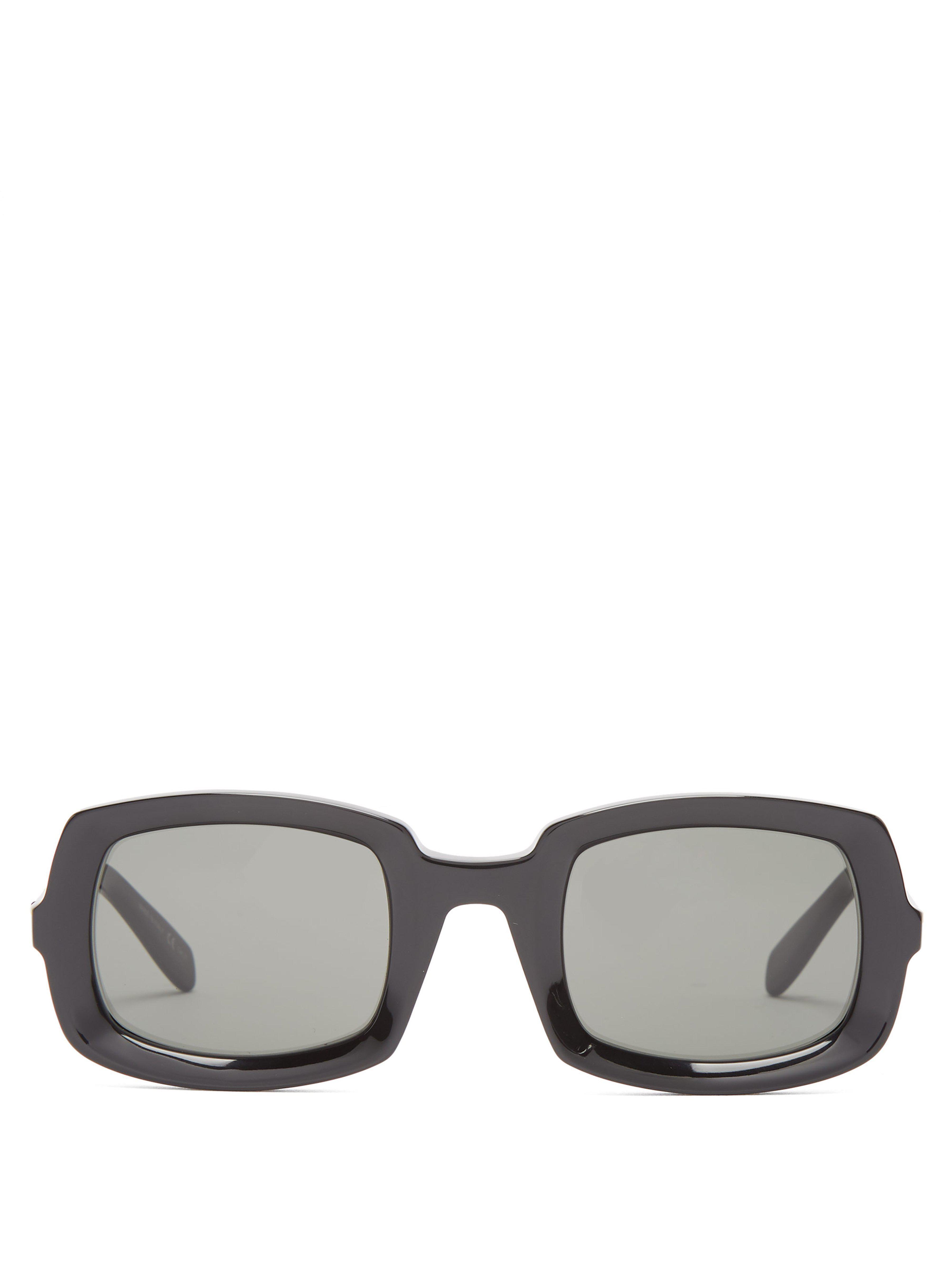 2e92a63f79c Saint Laurent Thick Frame Acetate Sunglasses in Black - Lyst