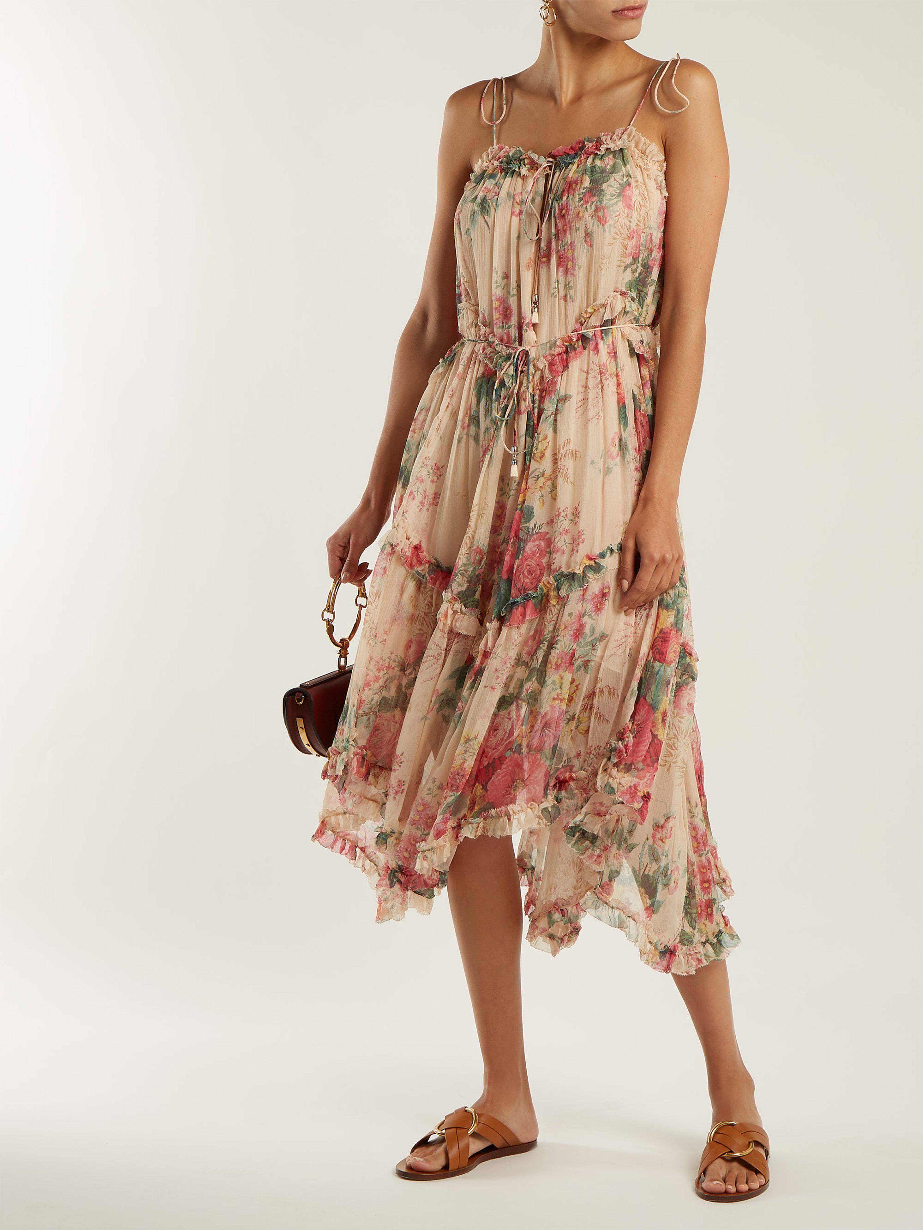 a728db39c9 Zimmermann - Multicolor Laelia Floral Print Silk Dress - Lyst. View  fullscreen