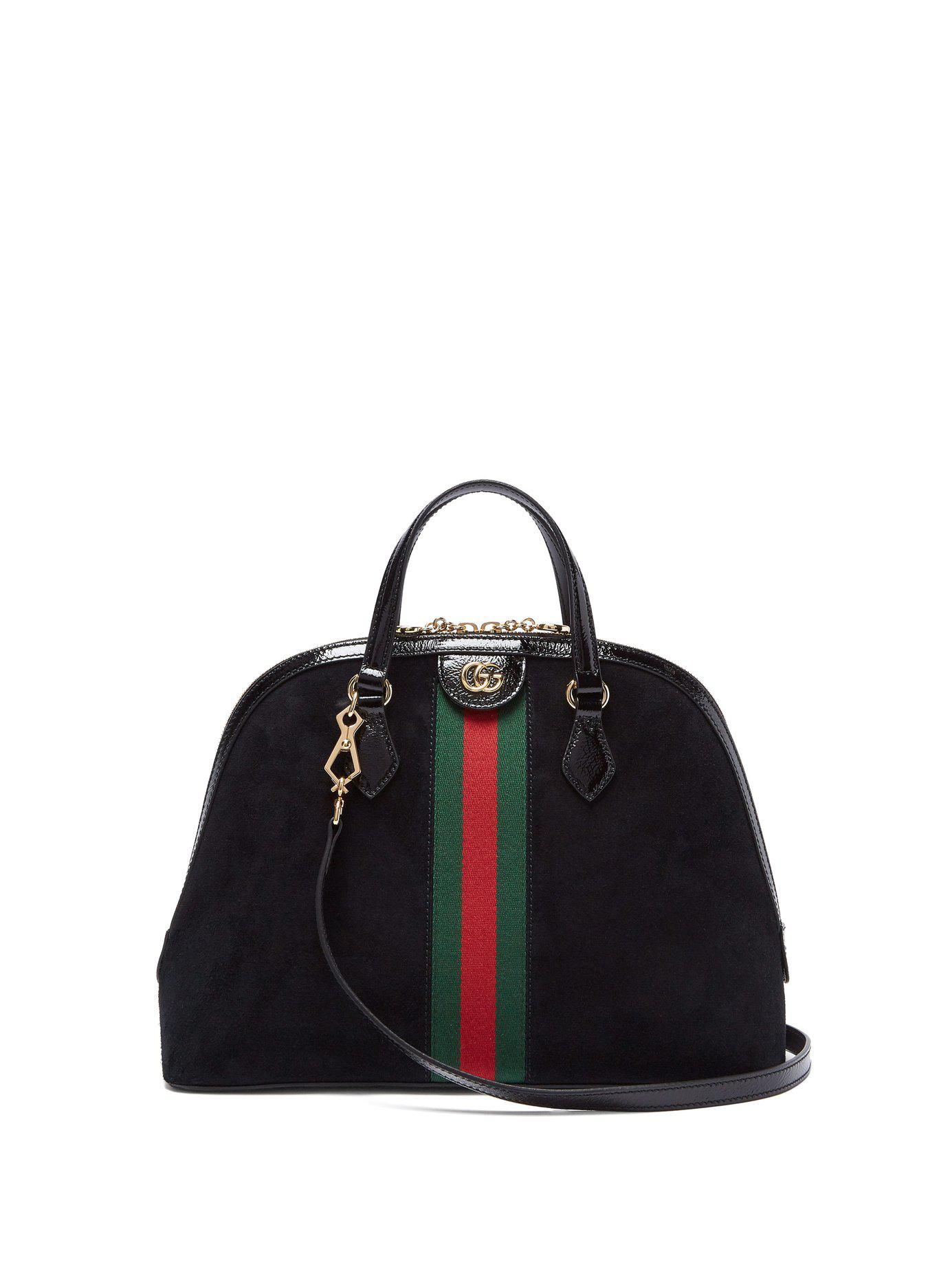 26ea9a01fb0 Gucci Ophidia Gg Suede Tote Bag in Black - Save 6% - Lyst