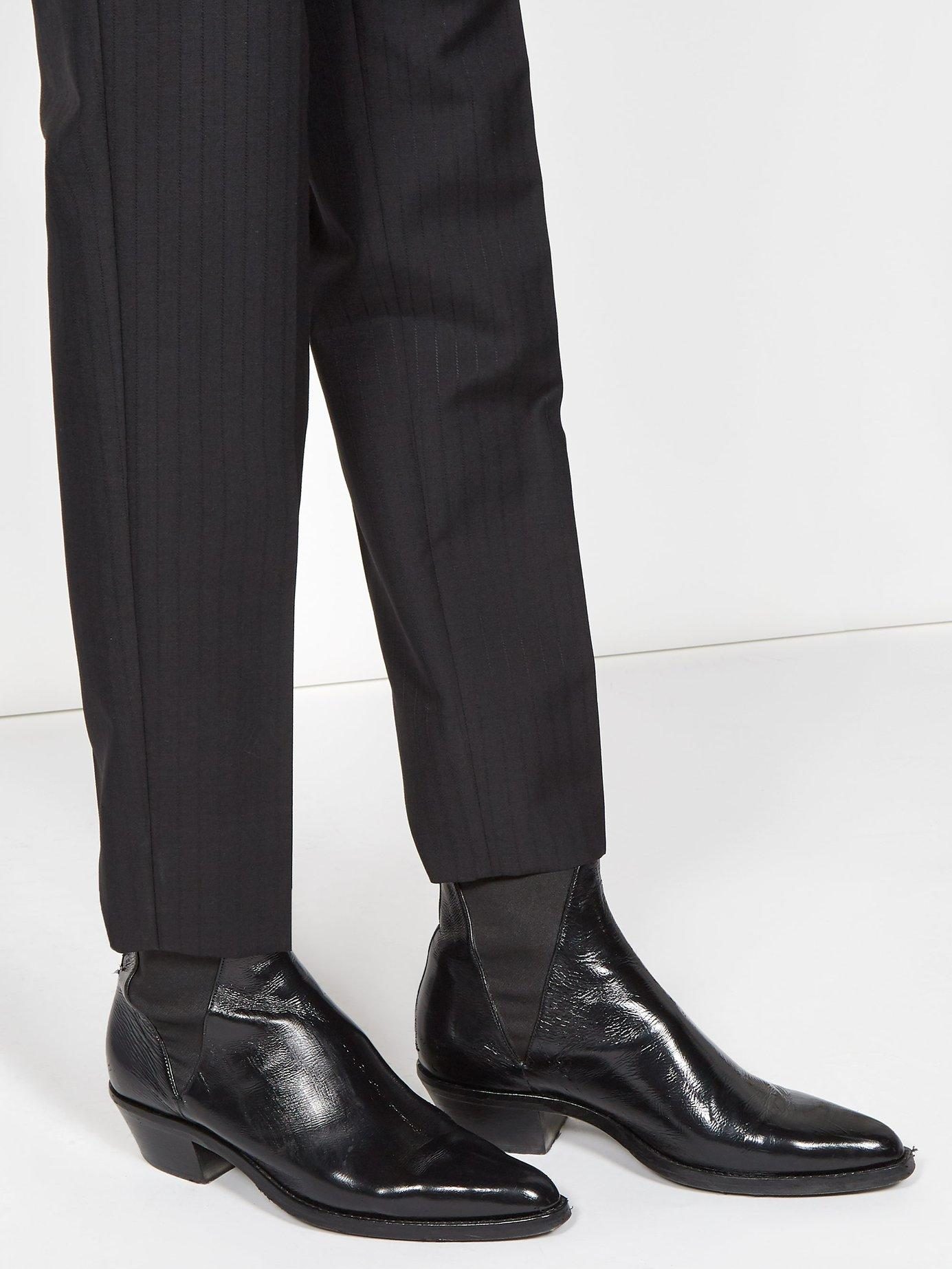 3358f5e7f21f Lyst - Saint Laurent Dakota Leather Chelsea Boots in Black for Men