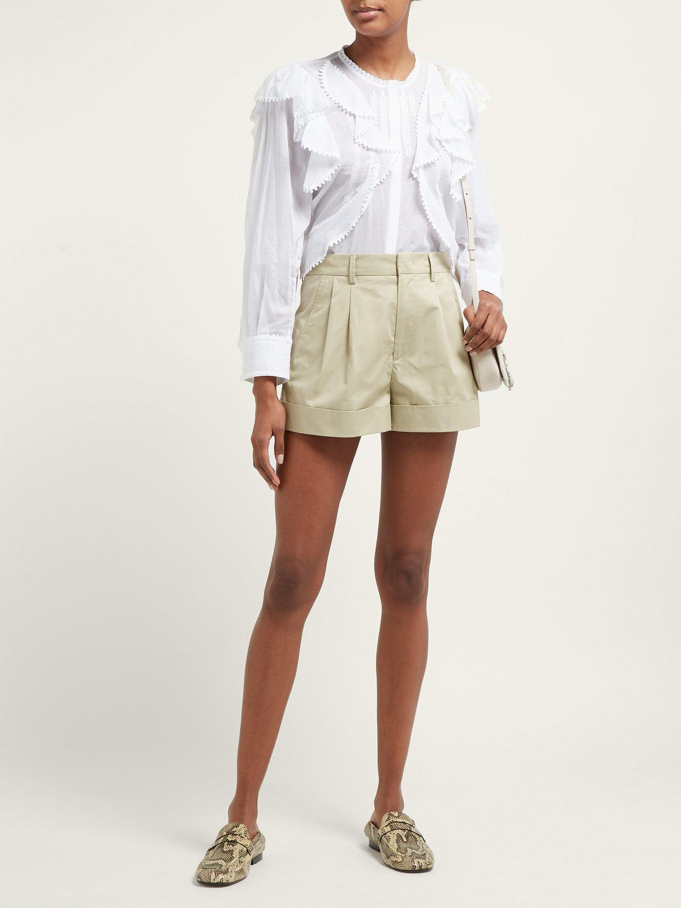 cd6376662f320 Lyst - Étoile Isabel Marant Alea Ruffled Cotton Blouse in White