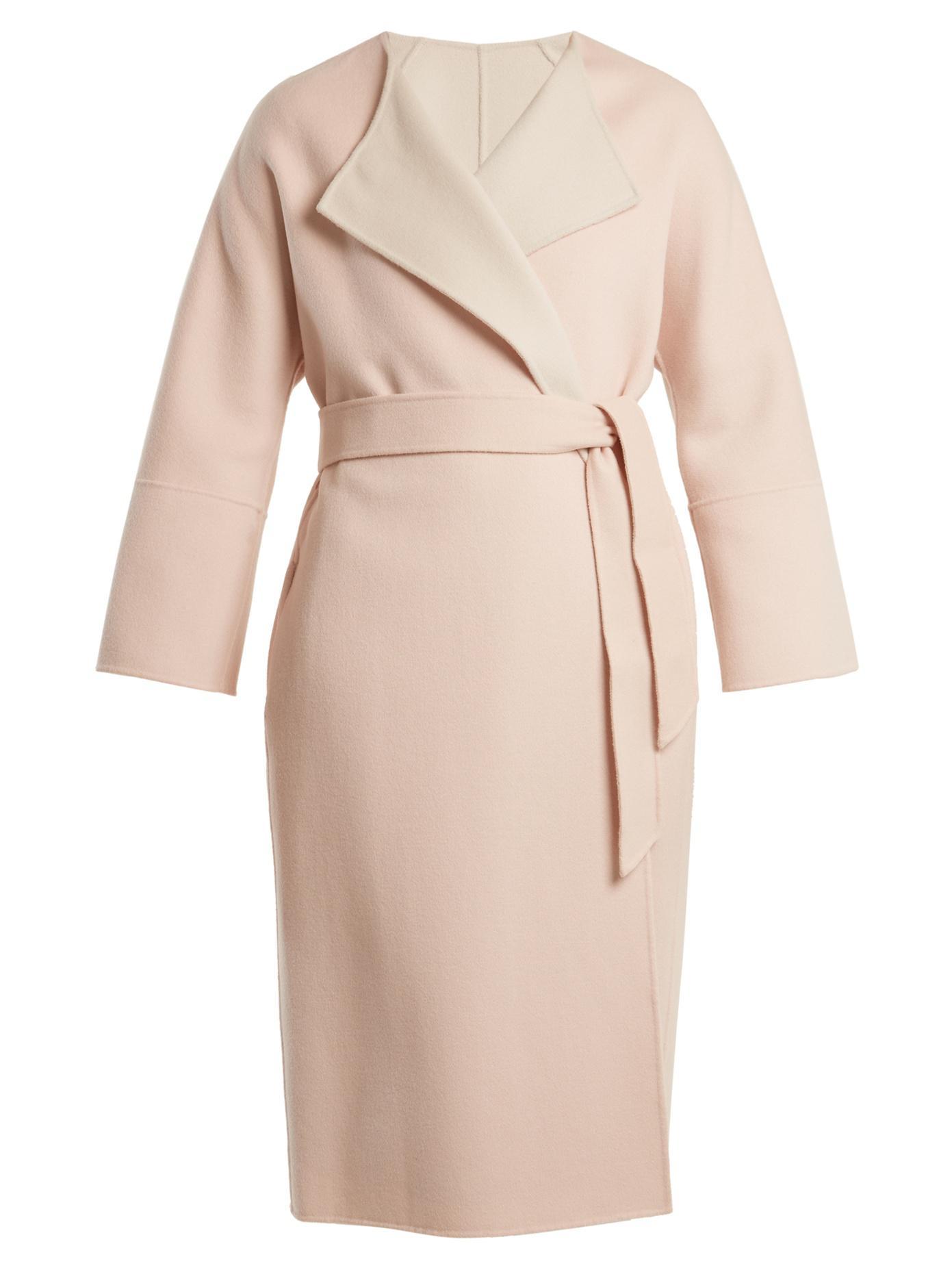 lyst weekend by maxmara lari coat in pink. Black Bedroom Furniture Sets. Home Design Ideas