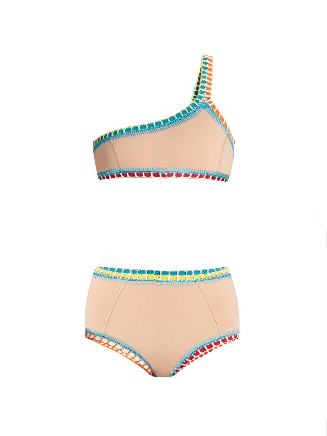 43b51ac8f9644 KIINI. Women s Luna Crochet Trim Triangle Bikini