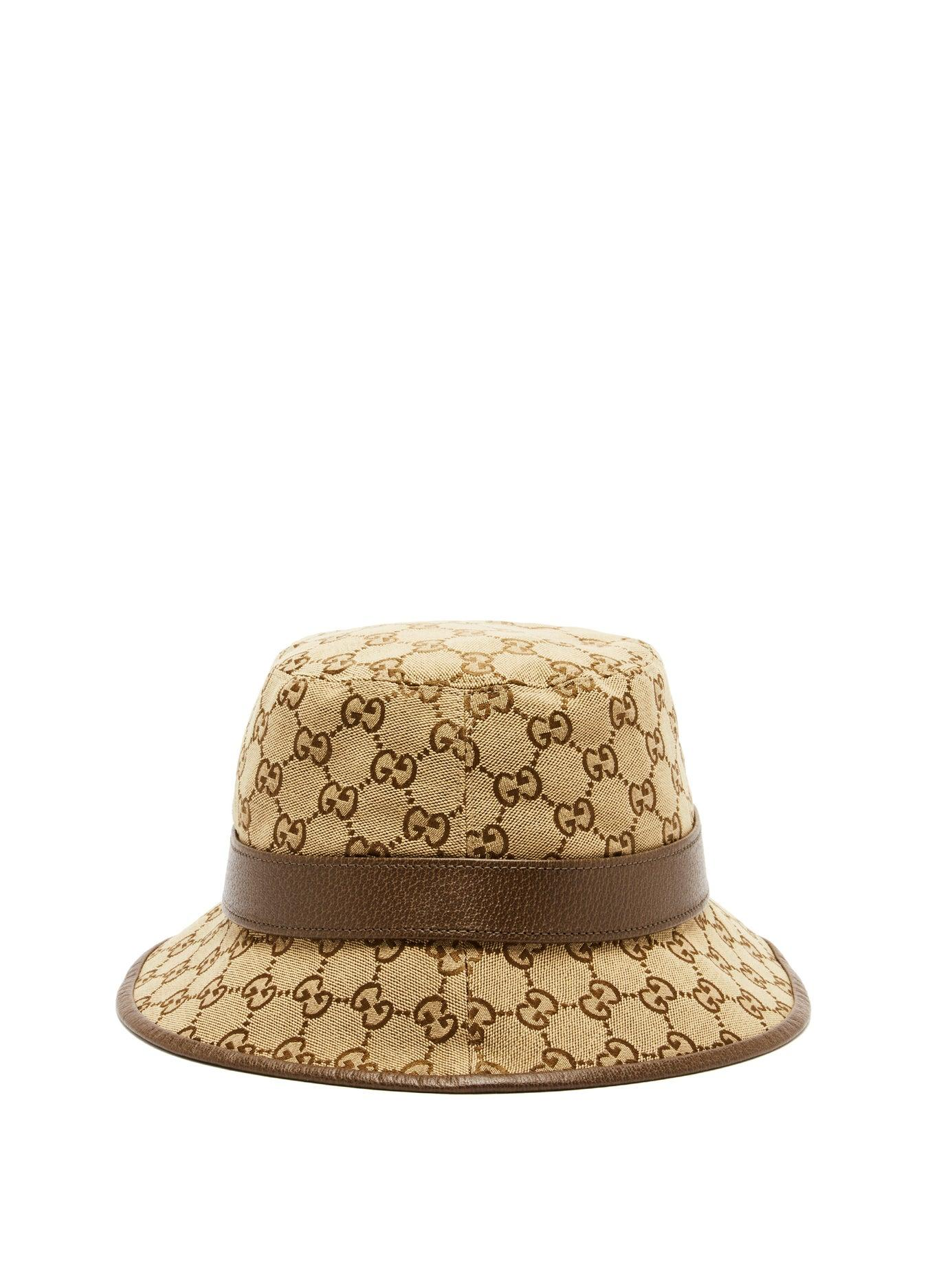 4254b51a4 Gucci Gg Supreme Canvas Bucket Hat in Natural for Men - Lyst