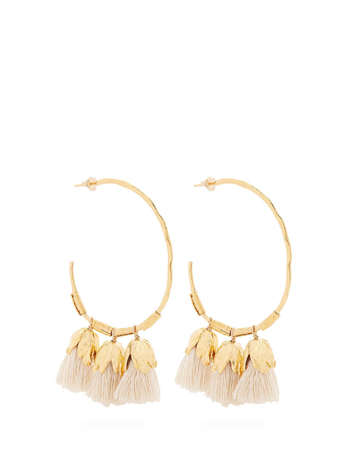 Havane tassel-drop gold-plated earrings Elise Tsikis Paris QTwdWCI