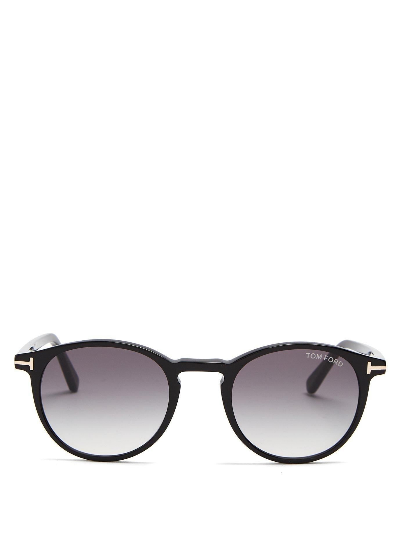 a9ed7cbd366 Tom Ford - Black Eric Round Frame Sunglasses for Men - Lyst. View fullscreen