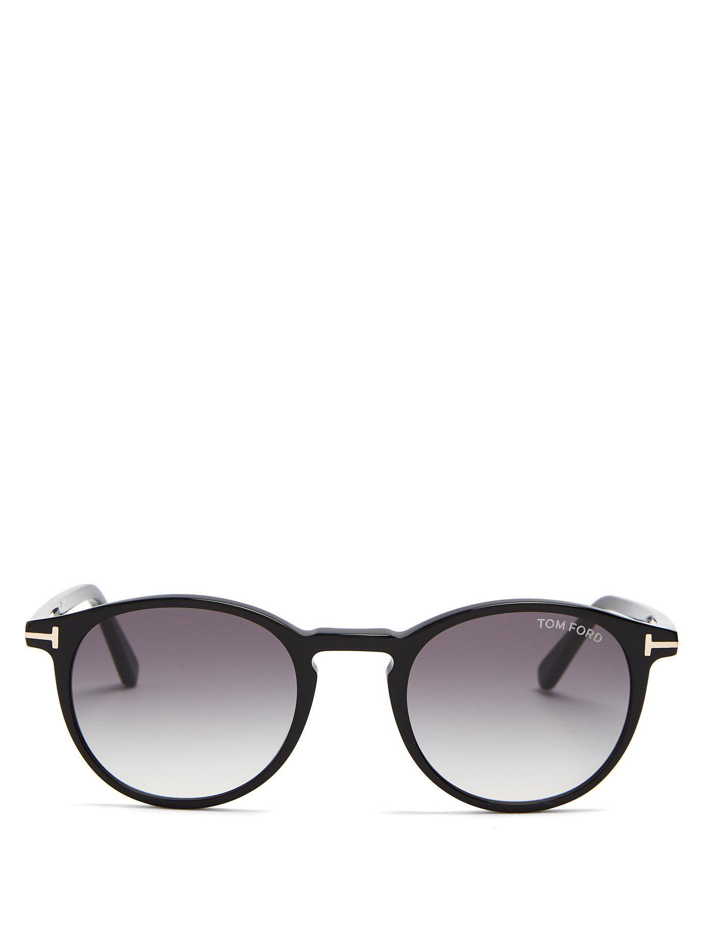 6aeb70472e3d6 Tom Ford Eric Round Frame Sunglasses in Black for Men - Lyst