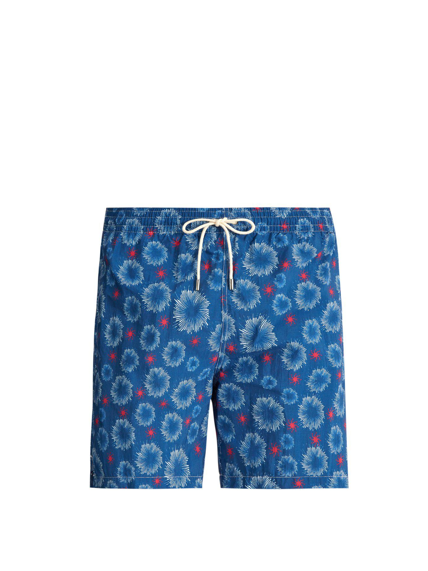 0ad7b21ebf Lyst - Le Sirenuse Starfish Print Swim Shorts in Blue for Men