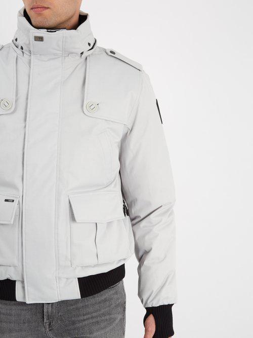 Nobis Synthetic Cartel Fur-trimmed Down-filled Bomber Jacket in Light Grey (Grey) for Men