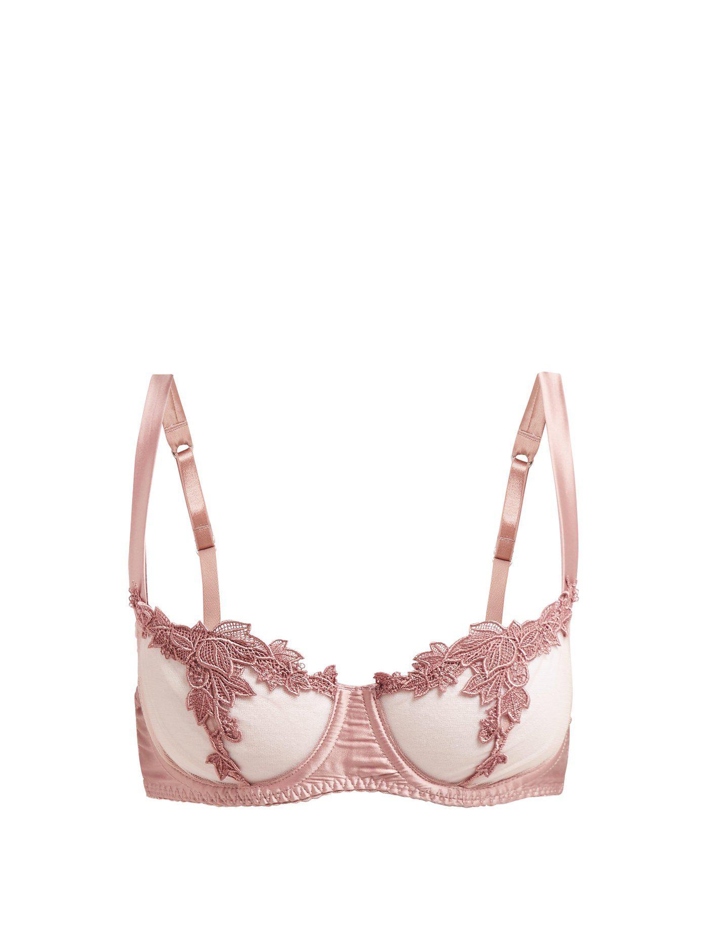 9a725433fd Lyst - Fleur Of England Desert Rose Balcony Bra in Pink - Save 15%