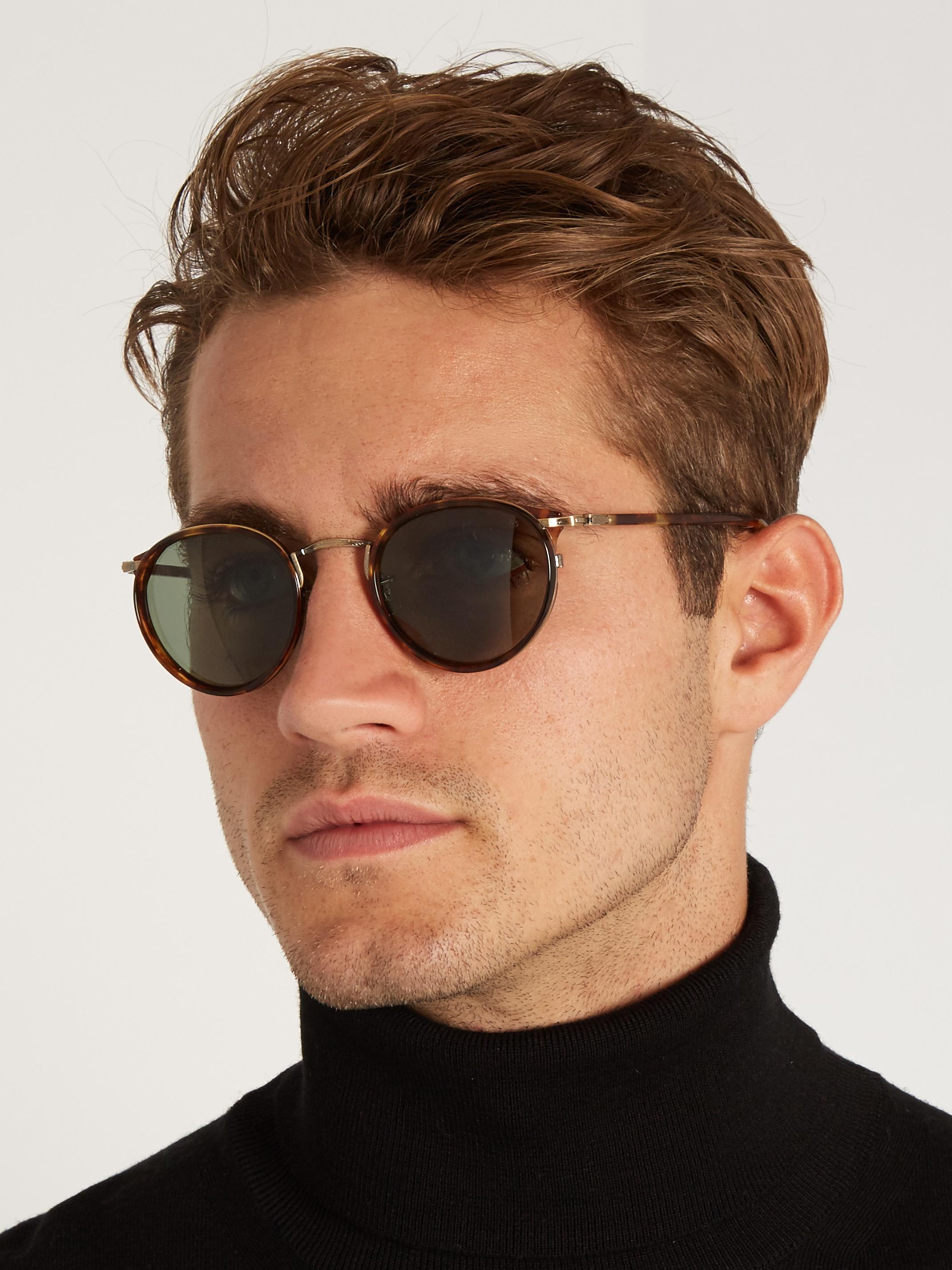 Lyst Cutler Amp Gross 1007 D Frame Acetate Sunglasses In