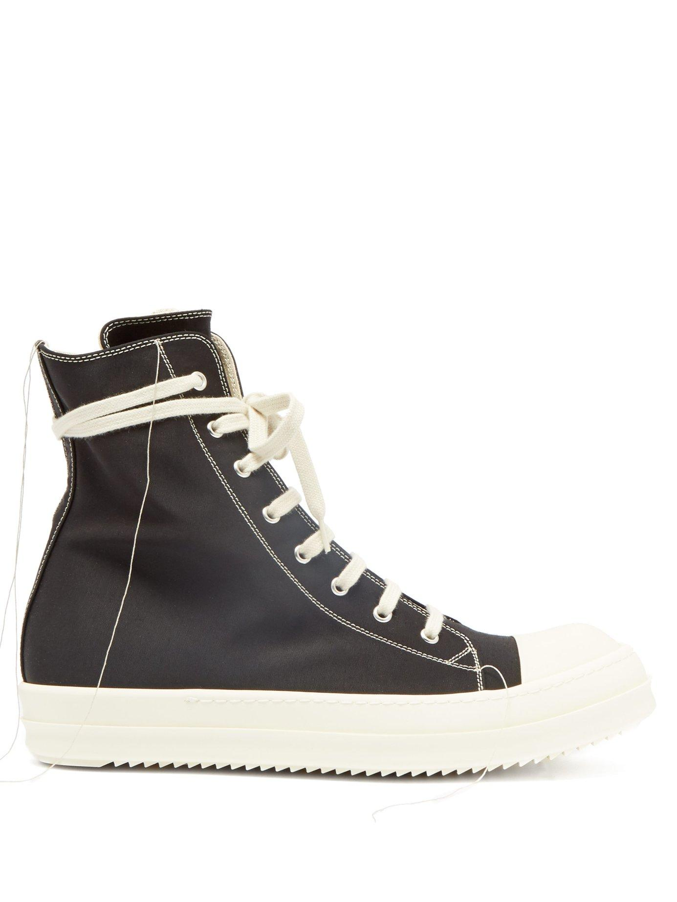 f4dbef6b48bf Lyst - Rick Owens Drkshdw High Top Canvas Trainers in Black for Men