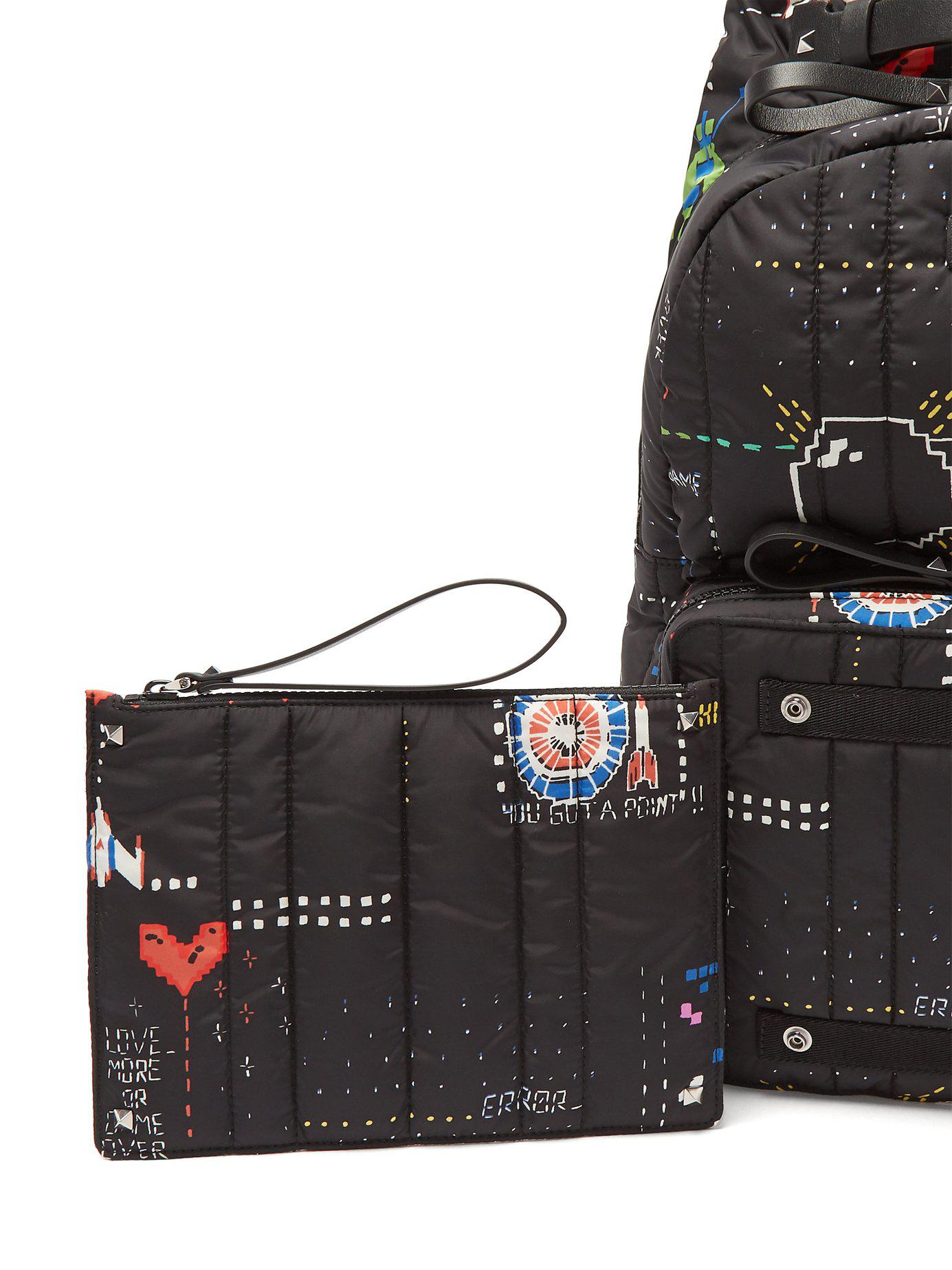 Lyst - Valentino Arcade Print Backpack in Black for Men 3caebc844dcfe