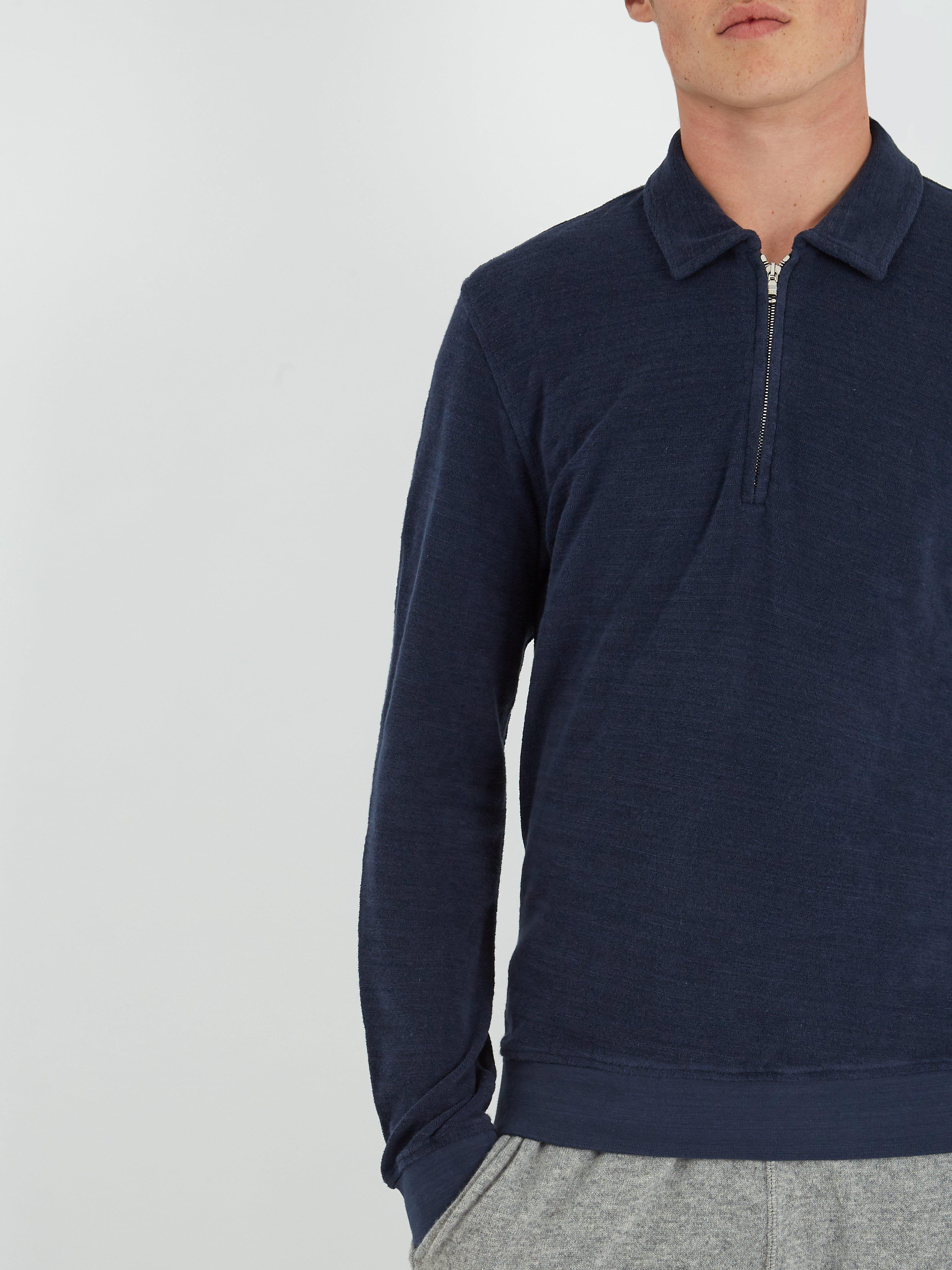 Orlebar Brown Cotton Ritson French Terry-towelling Top in Navy (Blue) for Men