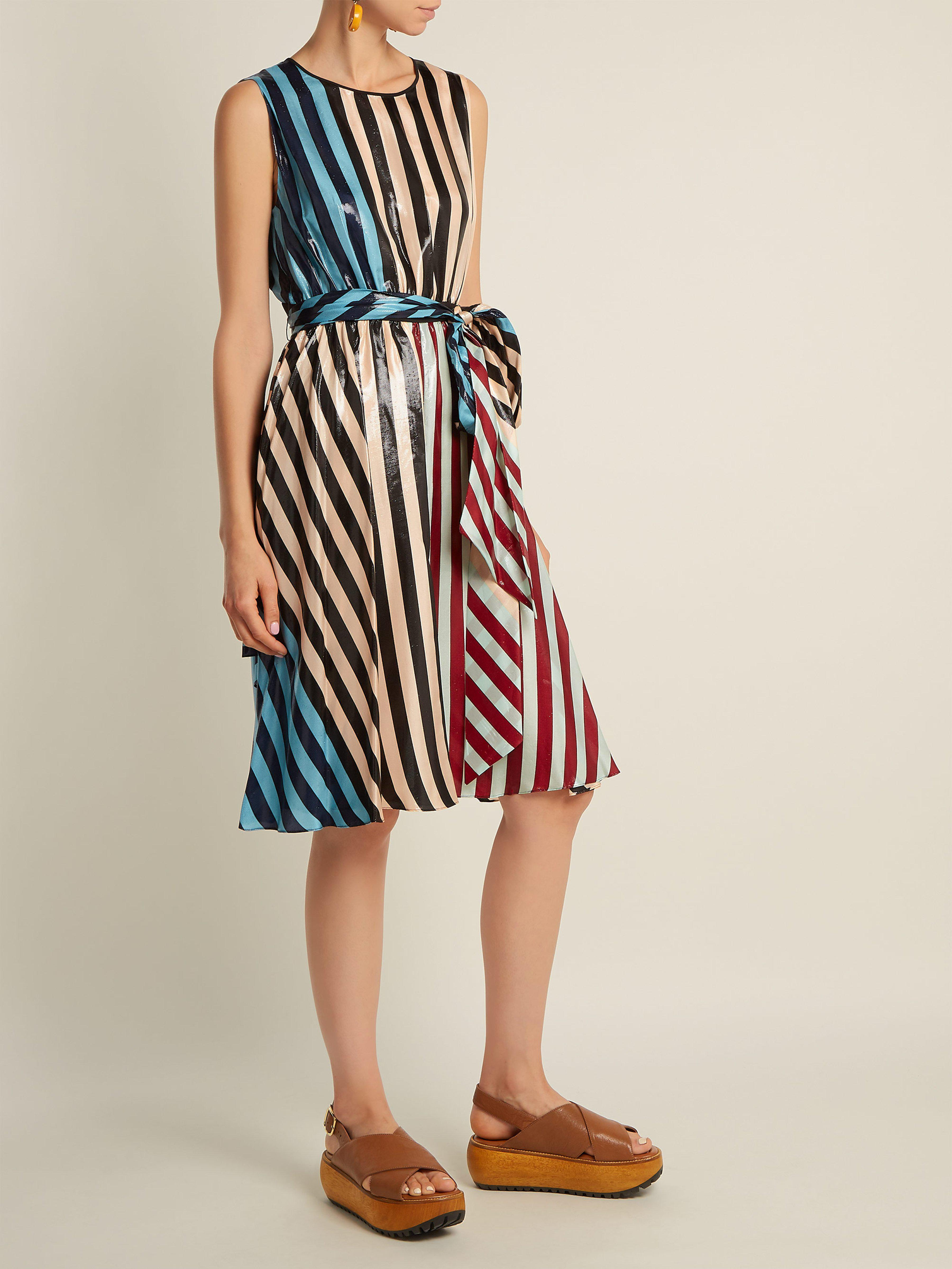 bdc9425b4f5d Diane von Furstenberg Carrington Stripe Silk Blend Dress - Save 60% - Lyst