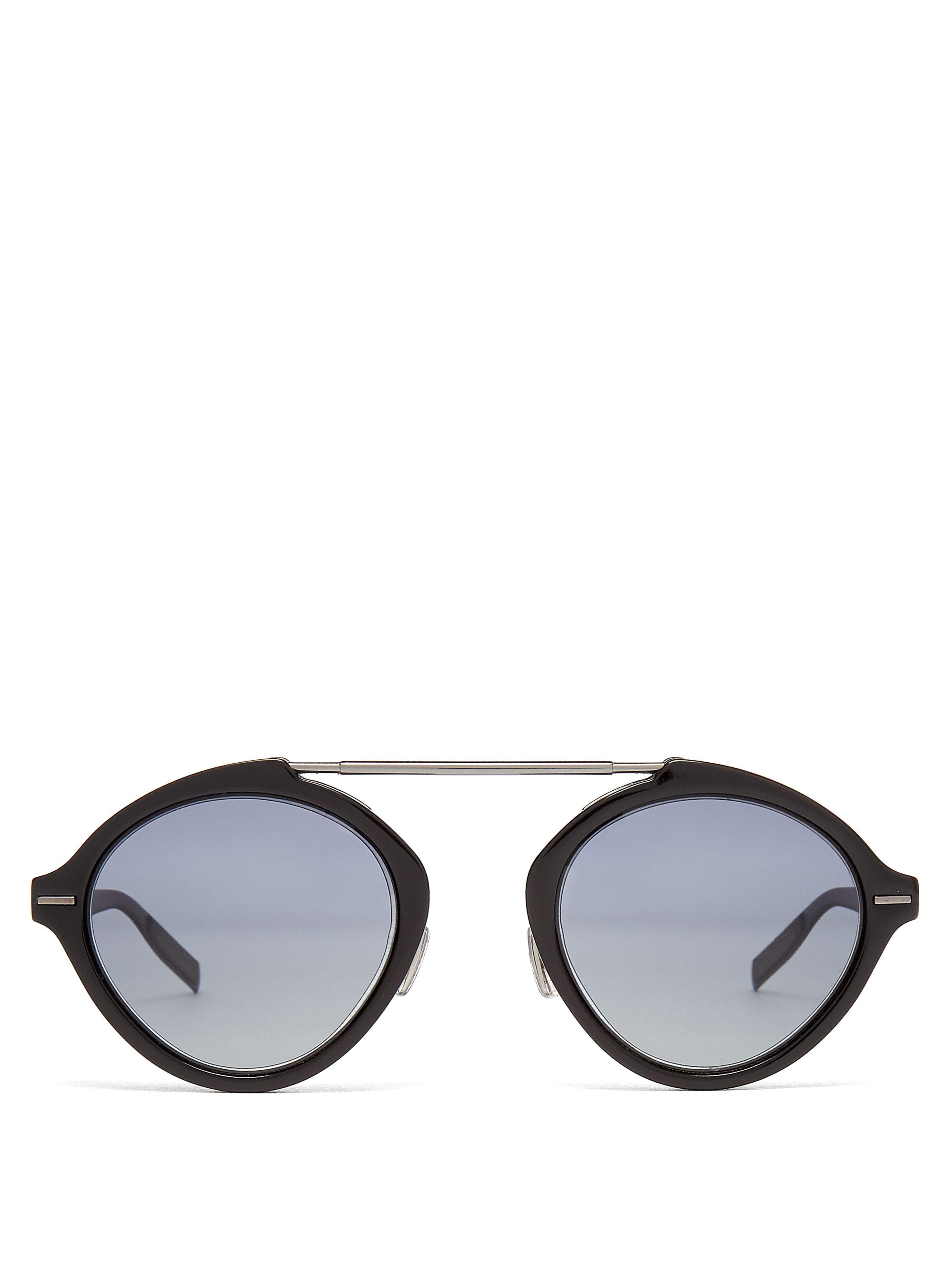 ee7ddd615aca58 Lyst - Lunettes de soleil rondes System Dior Homme pour homme en ...