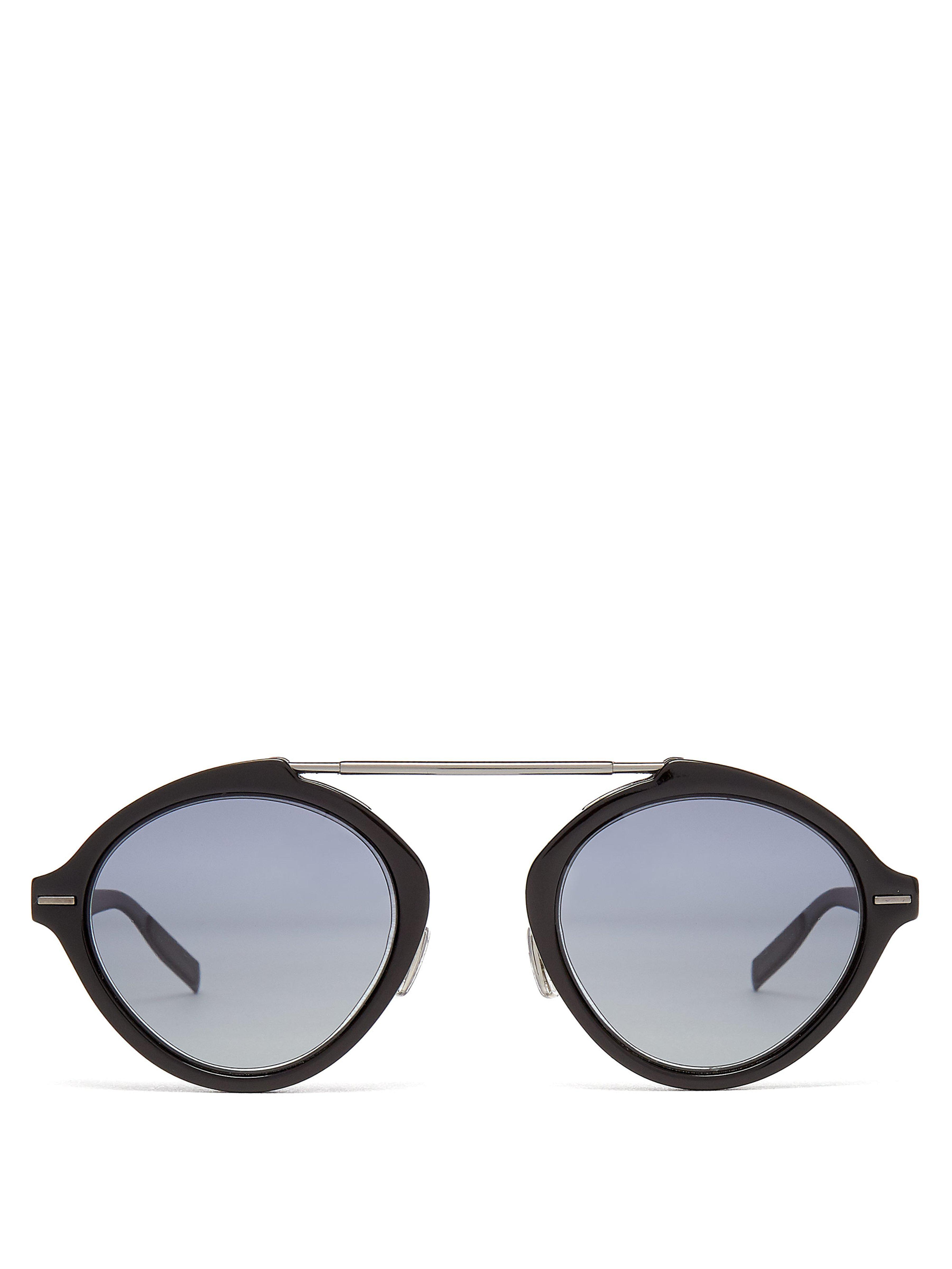 dc96dc2ac8 Dior Homme System Round Frame Sunglasses in Black for Men - Lyst