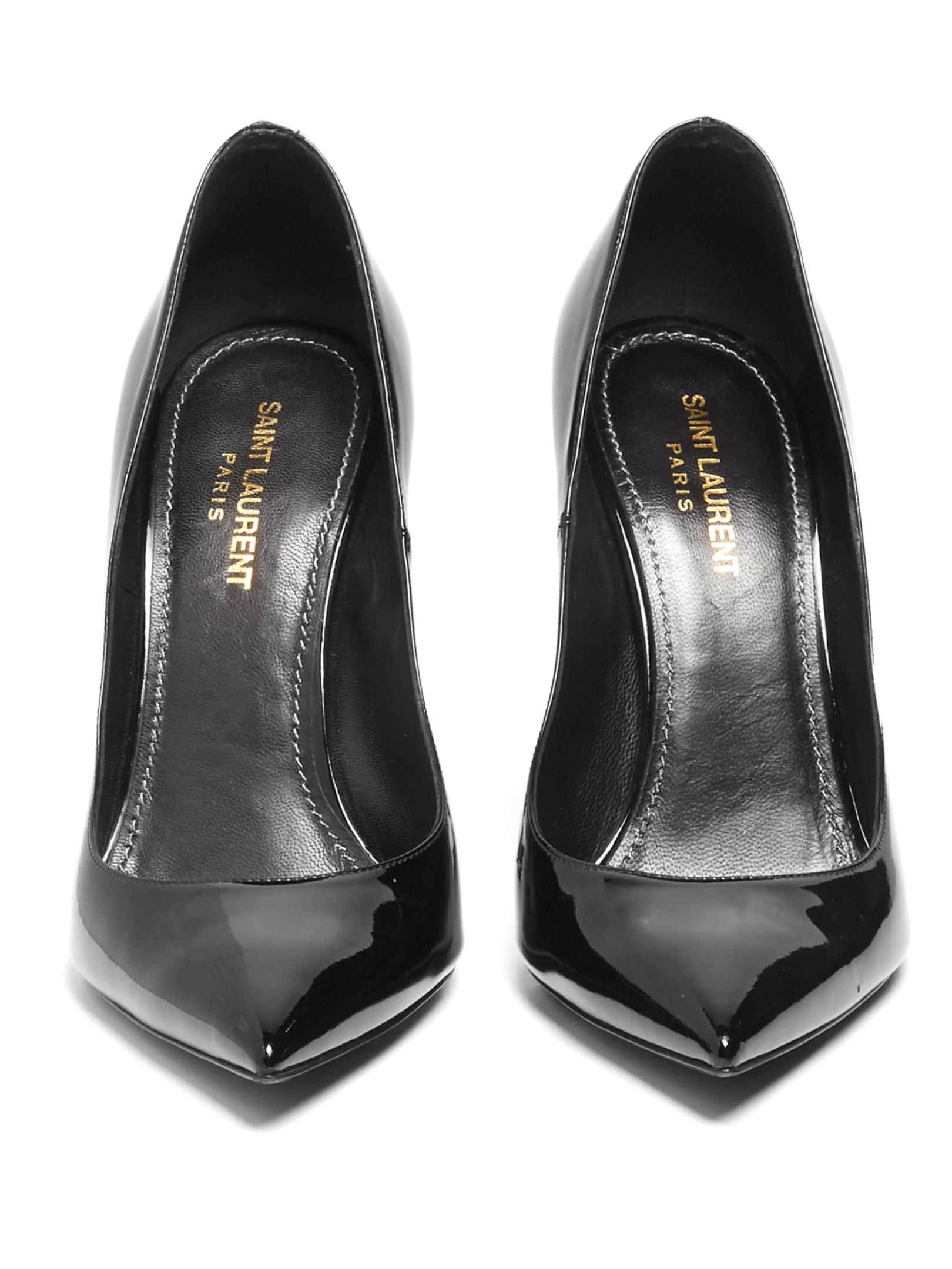 Black Patent Leather Court Shoes Uk