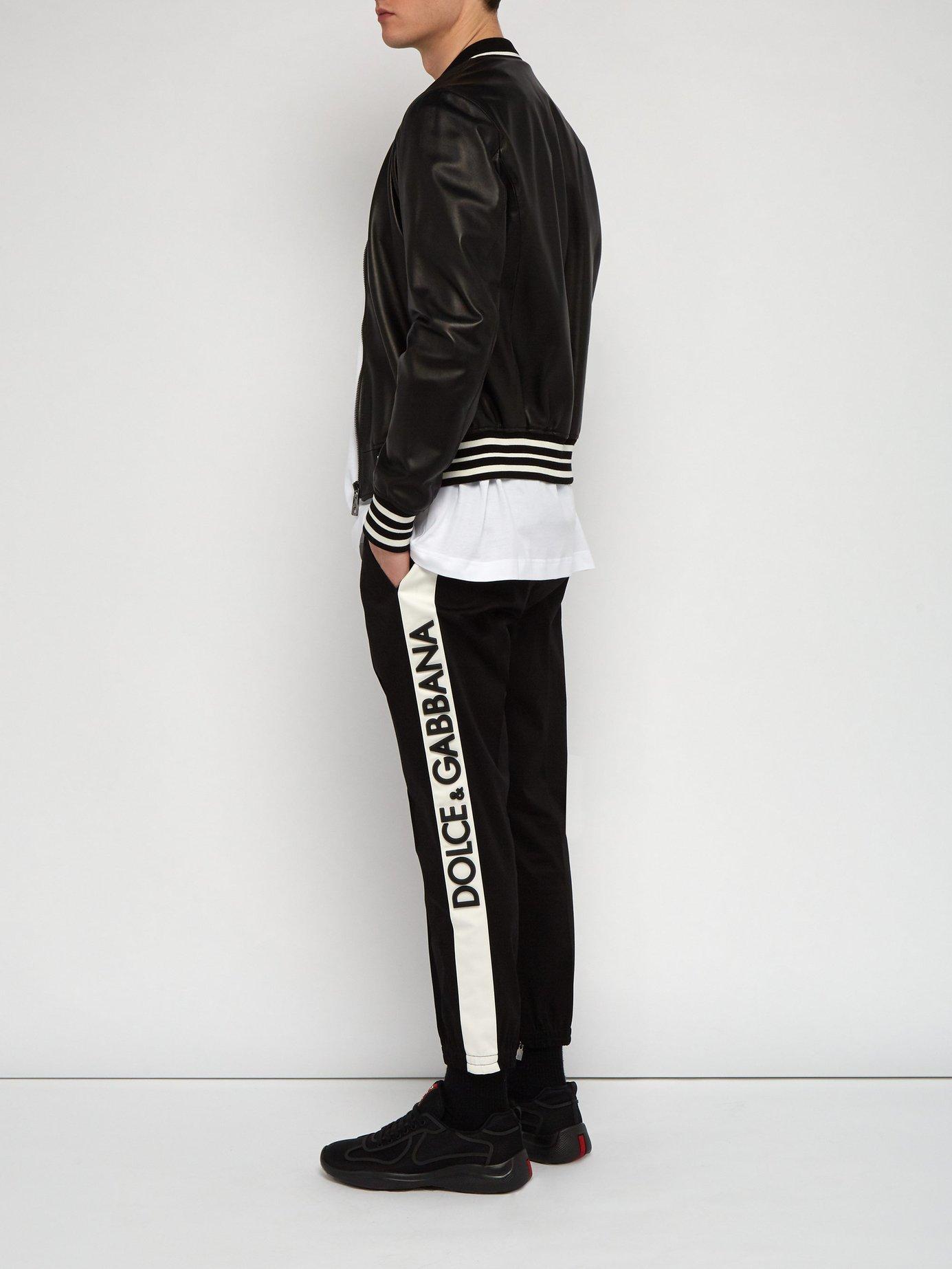 8098fb204ca5 Dolce   Gabbana - Black 3d Logo Panel Tailored Track Pants for Men - Lyst.  View fullscreen