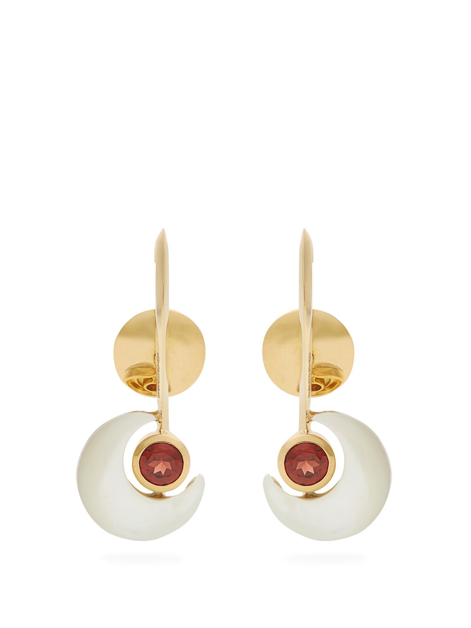 Ara Vartanian X Kate Moss garnet & gold earrings 6p2CECX