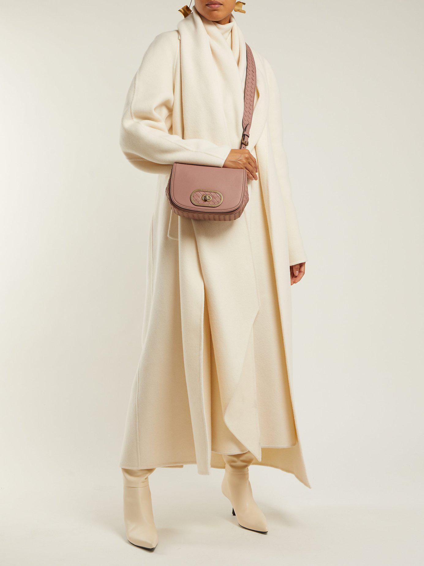 5fd82f589e0f Bottega Veneta - Pink Bv Luna Leather Cross Body Bag - Lyst. View fullscreen