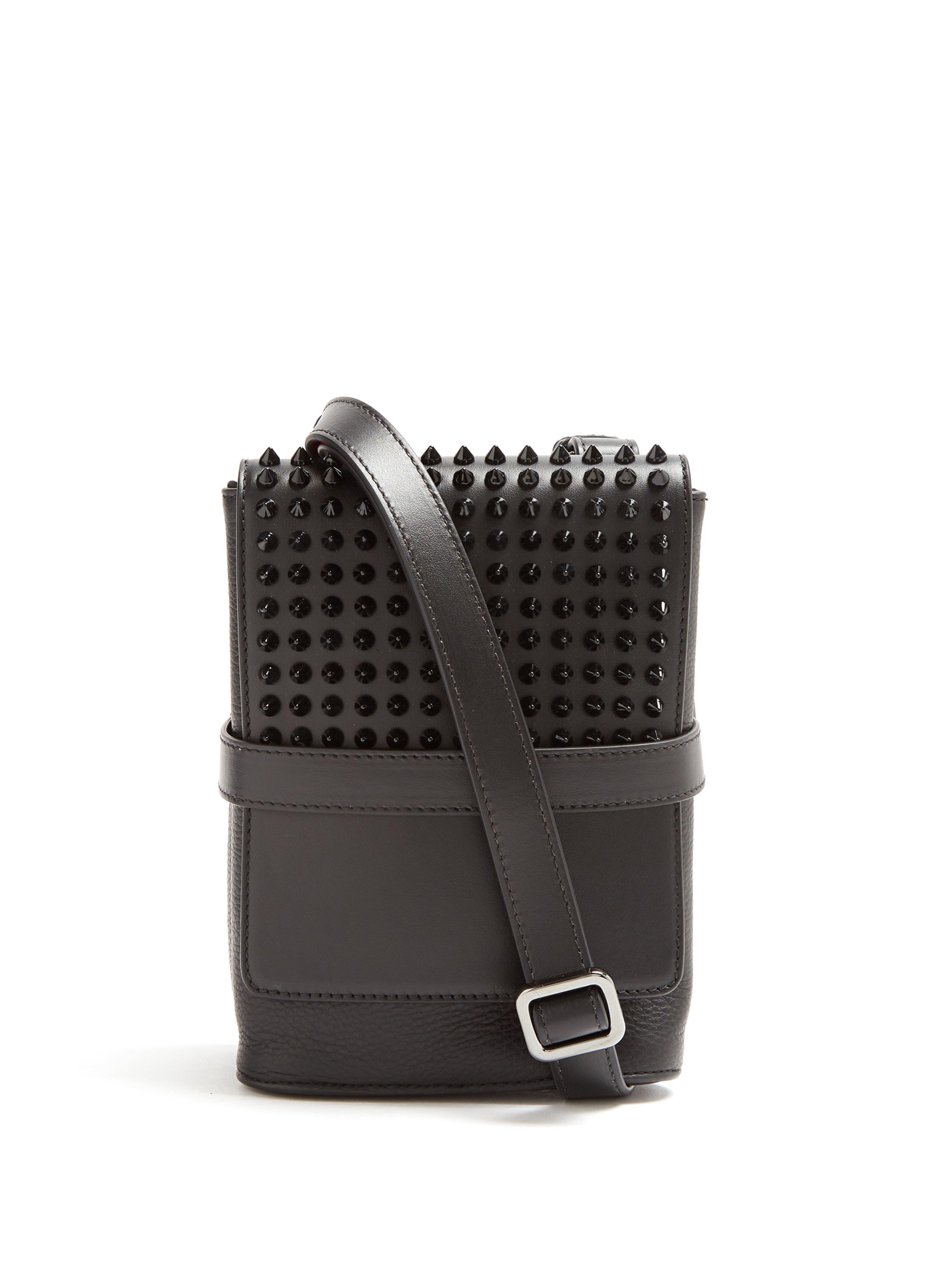 Christian Louboutin. Men s Benech Small Spike Embellished Cross Body Bag c079430c5cd44