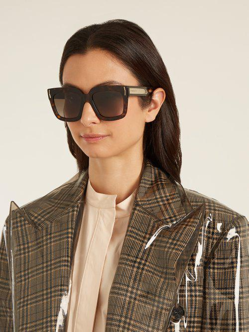 Givenchy Square-frame Acetate Sunglasses in Brown