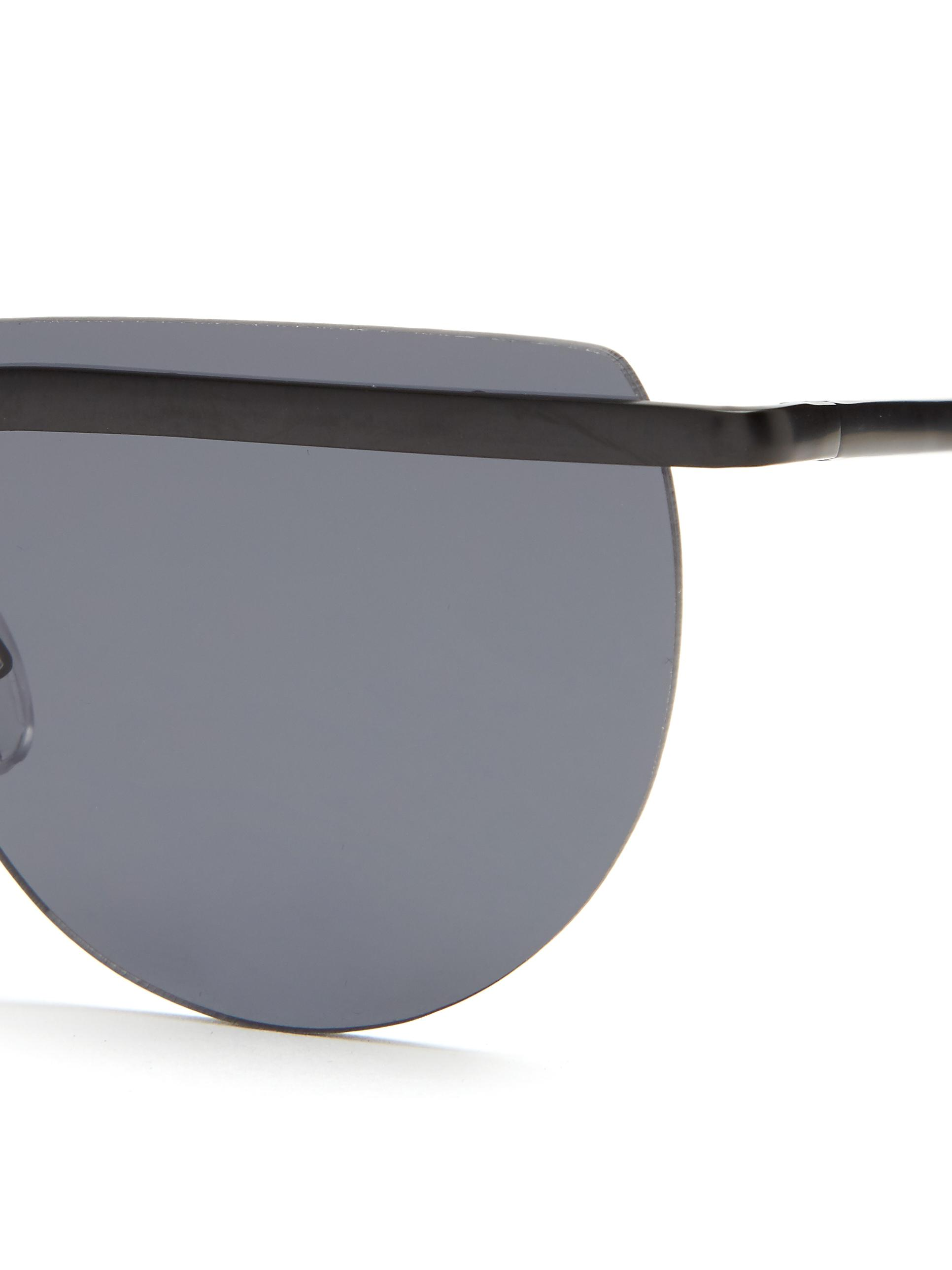 Le Specs Mafia Moderne Flat-top Sunglasses in Black
