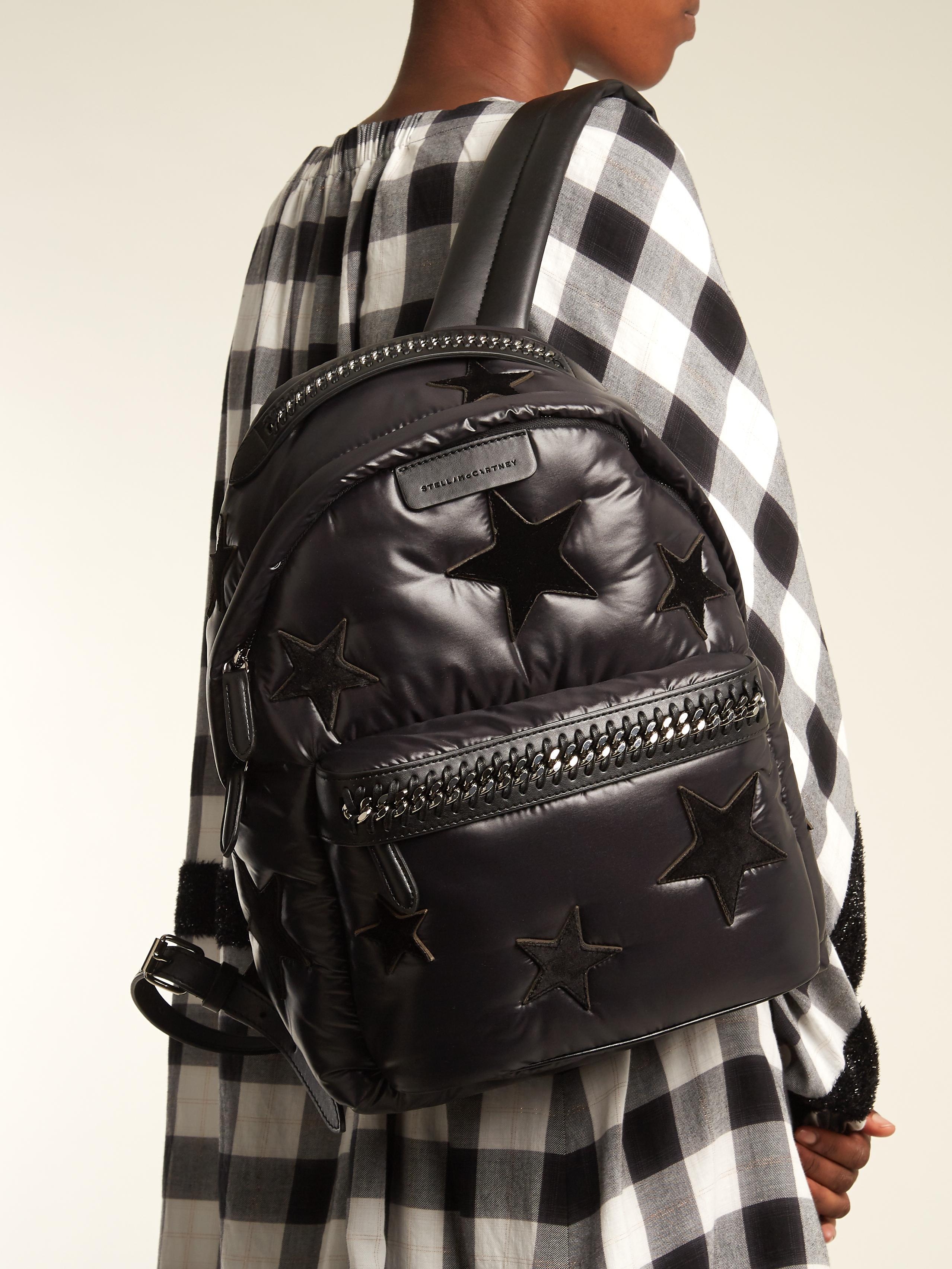 STELLA MCCARTNEY Falabella Go padded eco-nylon backpack的圖片搜尋結果