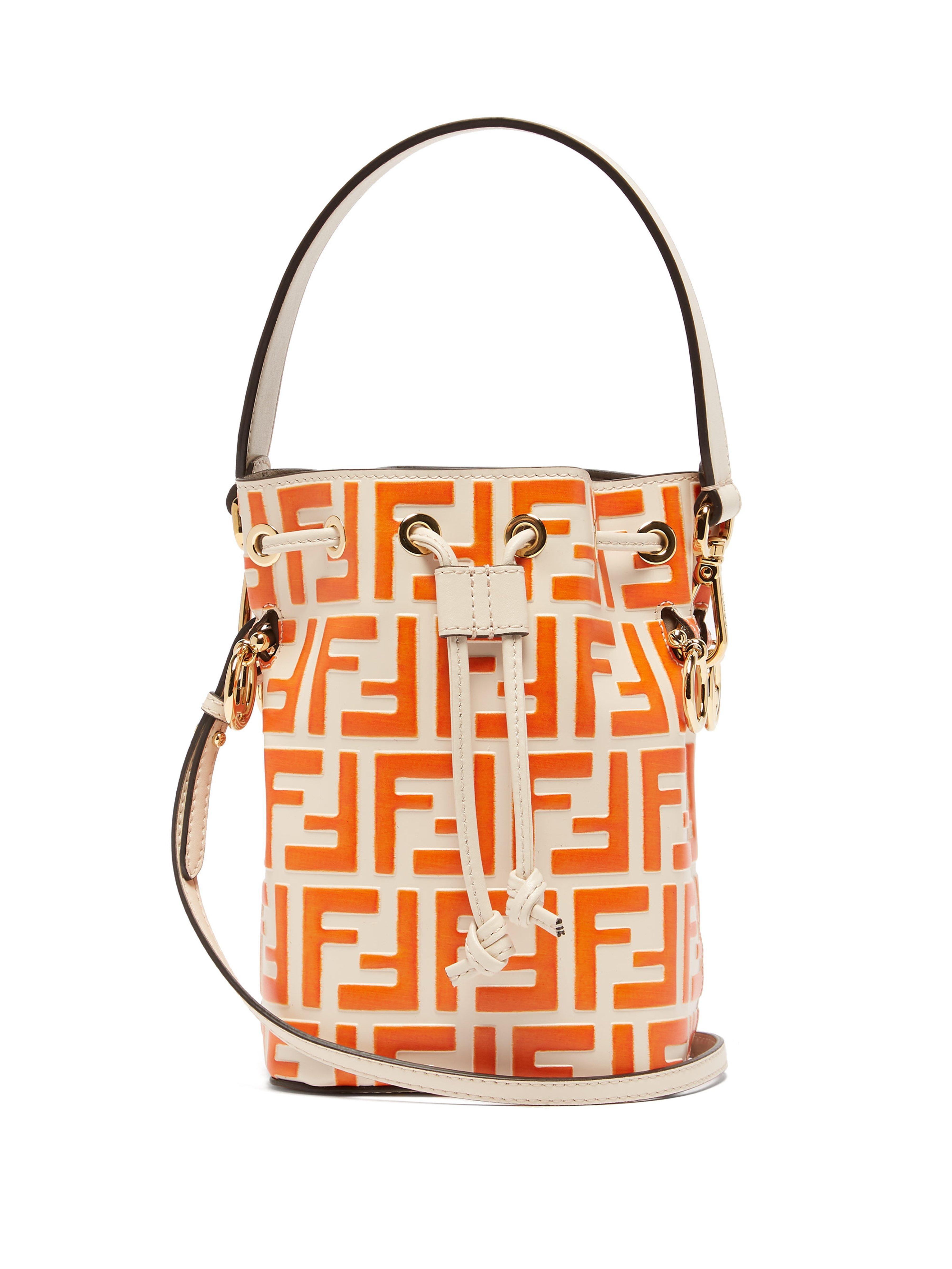 75bcf5fd35aa Fendi. Women s Ff Mon Tresor Mini Leather Bucket Bag