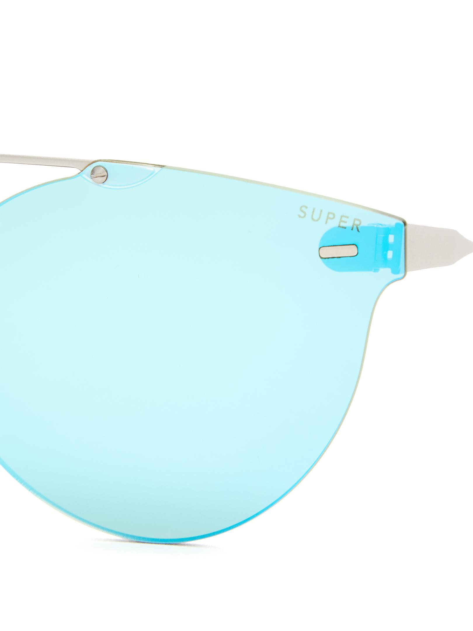 Retrosuperfuture Tuttolente Giaguaro Round-frame Sunglasses in Blue for Men