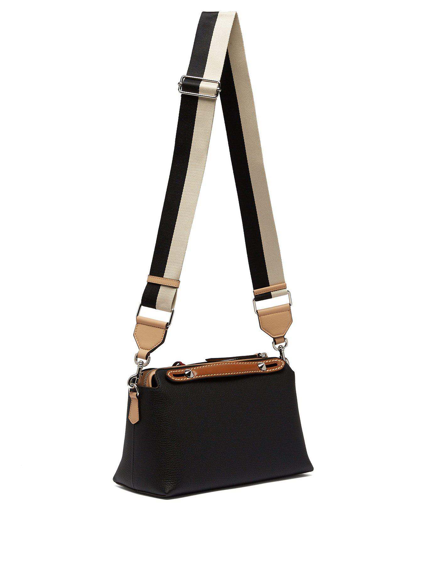 f4a9cba45e68 Fendi - Black By The Way Tri Colour Leather Cross Body Bag - Lyst. View  fullscreen